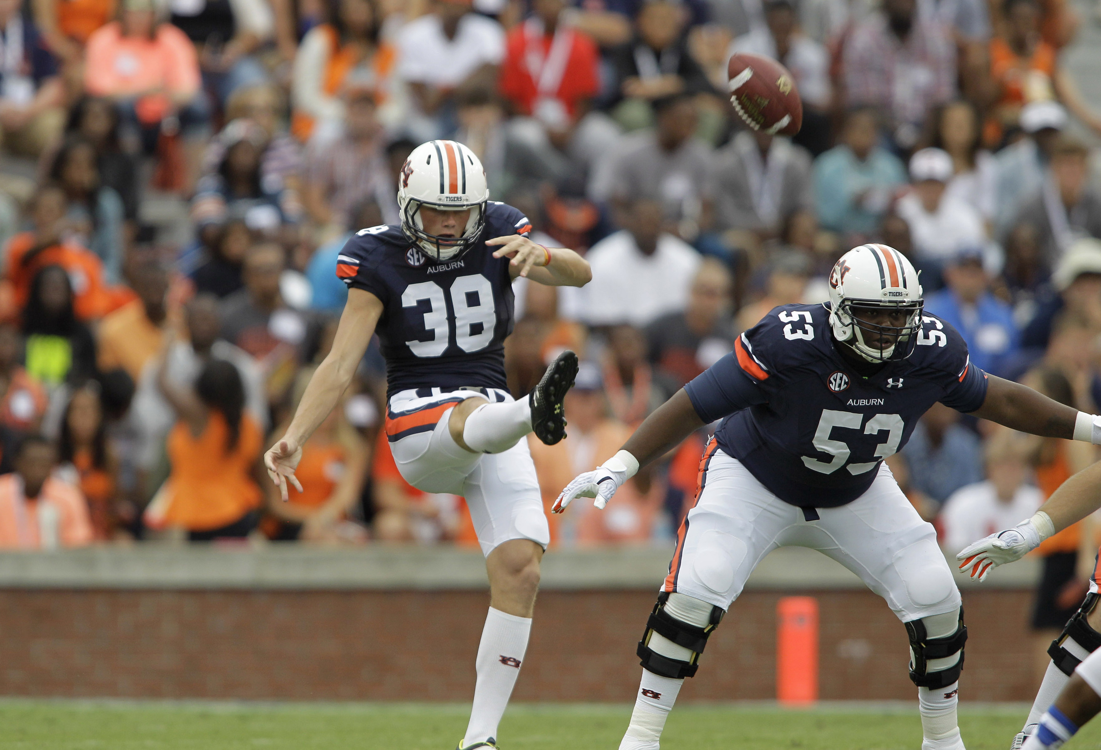 Hopefully this is something we don't see Carlson doing next season. Or anyone else on Auburn's team, either!