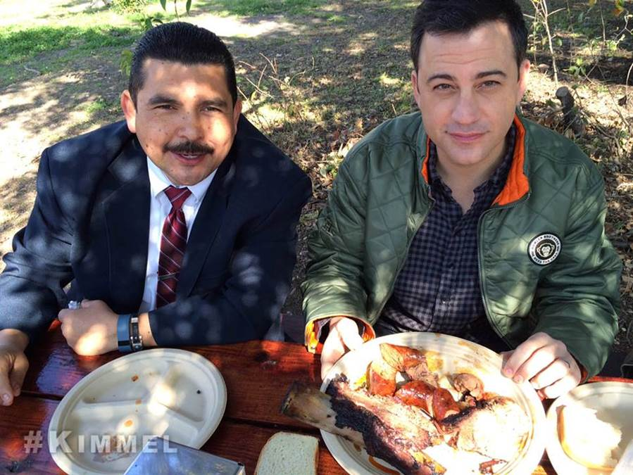 Jimmy Kimmel And Guillermo at Micklethwait in 2014