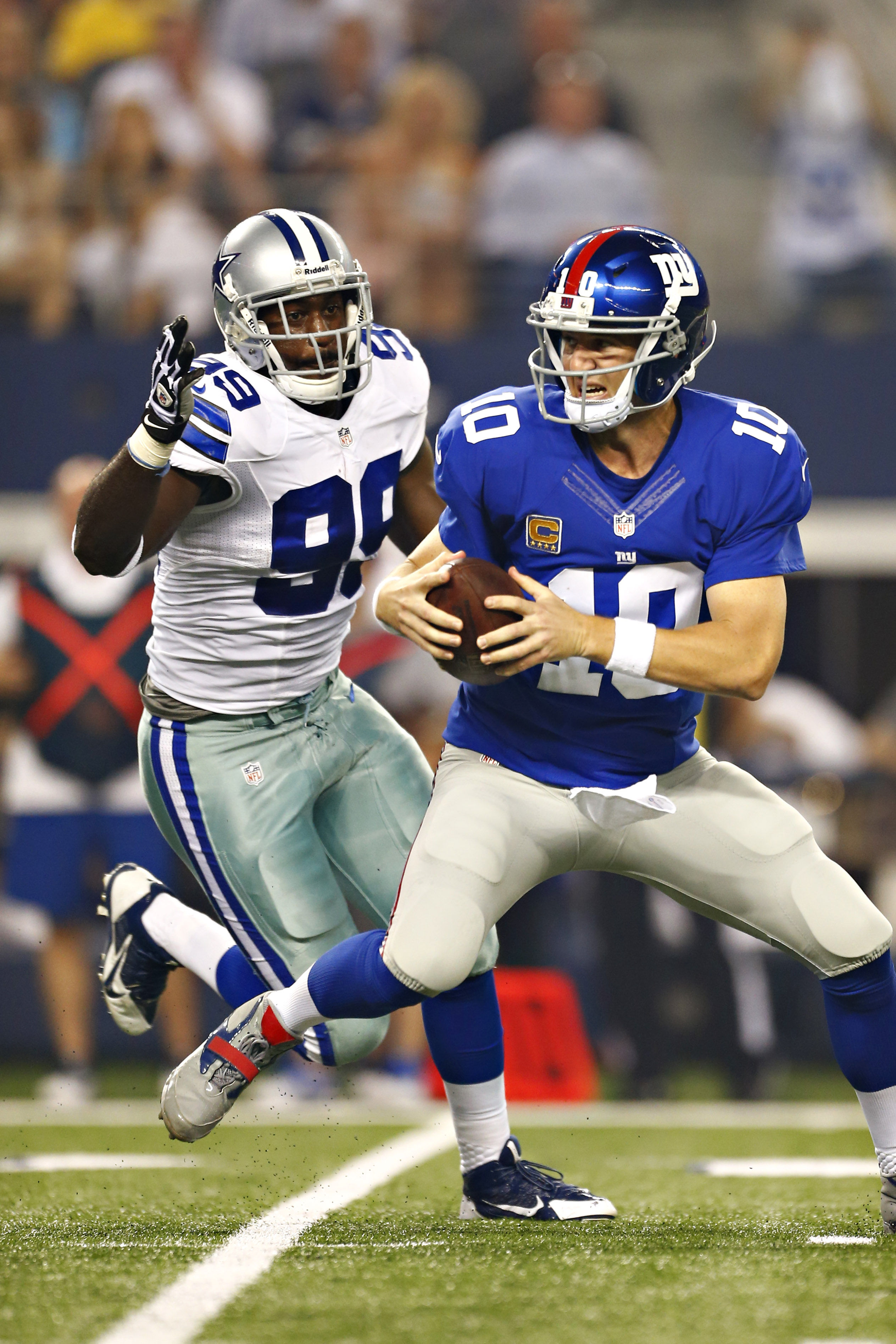 Eli Manning doesn't have to worry about being chased by George Selvie any more.
