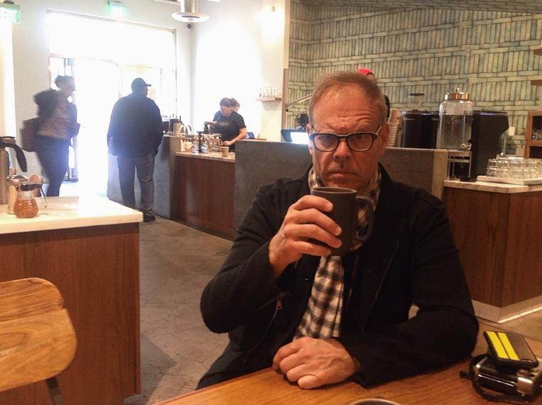 Alton Brown at Mazarine Coffee