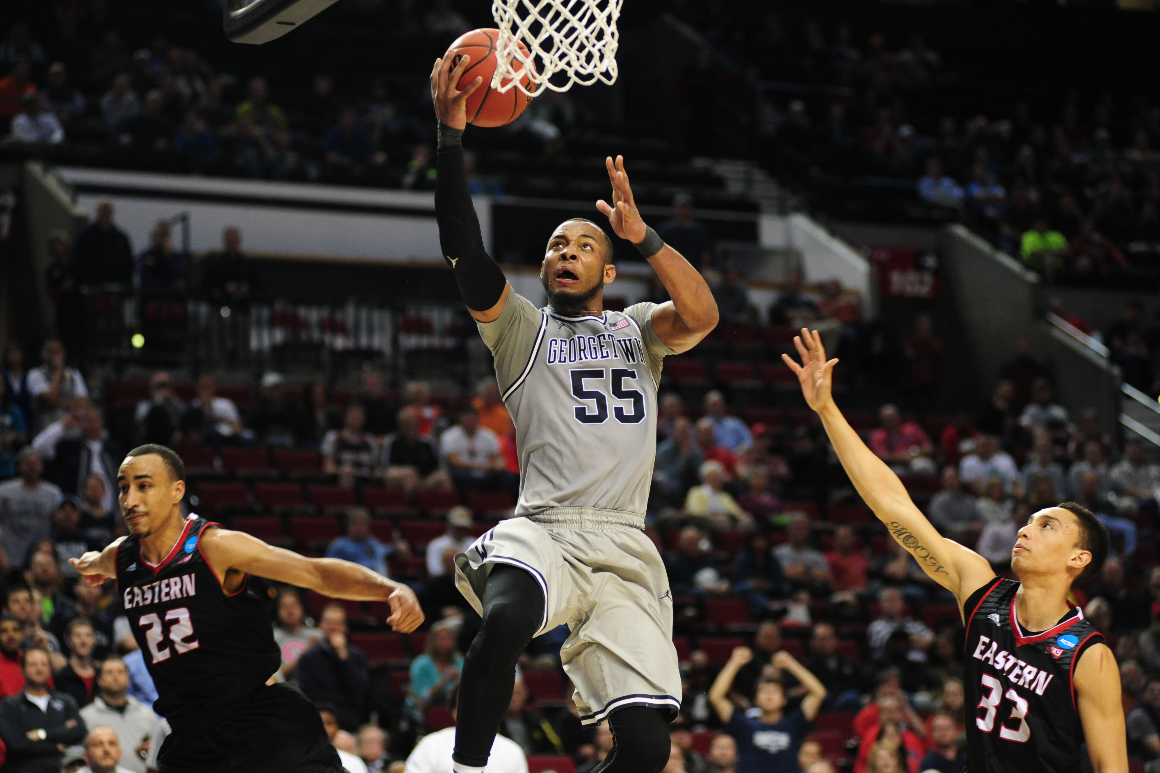 Utah's Round of 32 features a matchup with Patrick Ewing's alma mater, Georgetown.