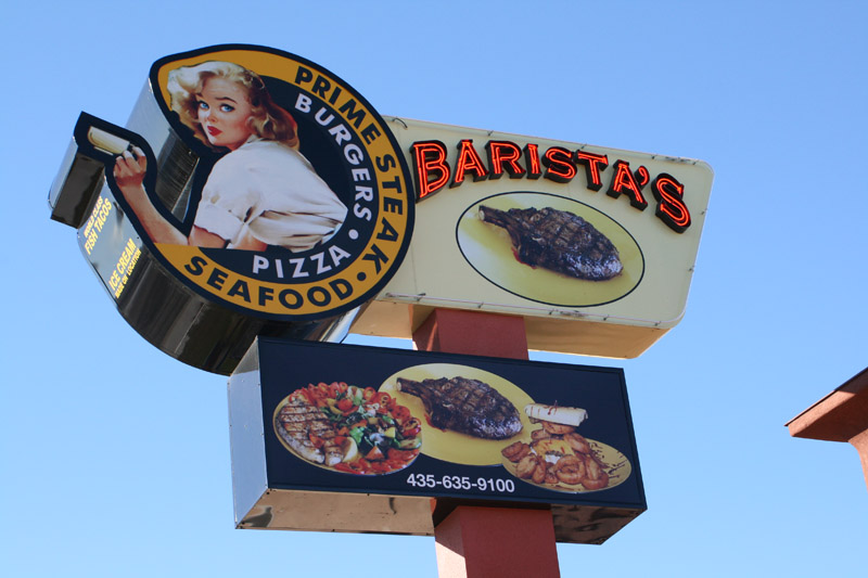 The Barista's sign prior to the addition of the controversial bull.