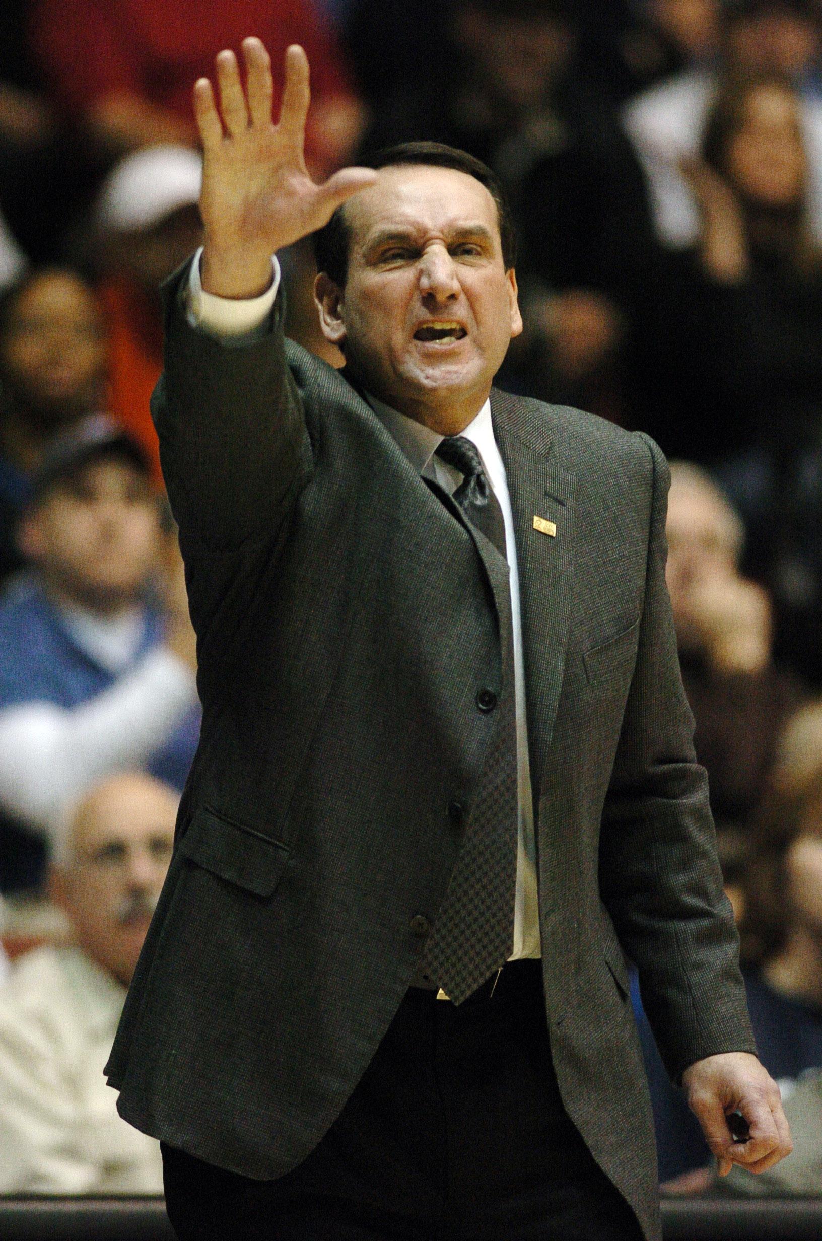 Mike Kryzewski will coach his Duke Blue Devils in the Sweet Sixteen against Larry Krystkowiak's Utah Utes.