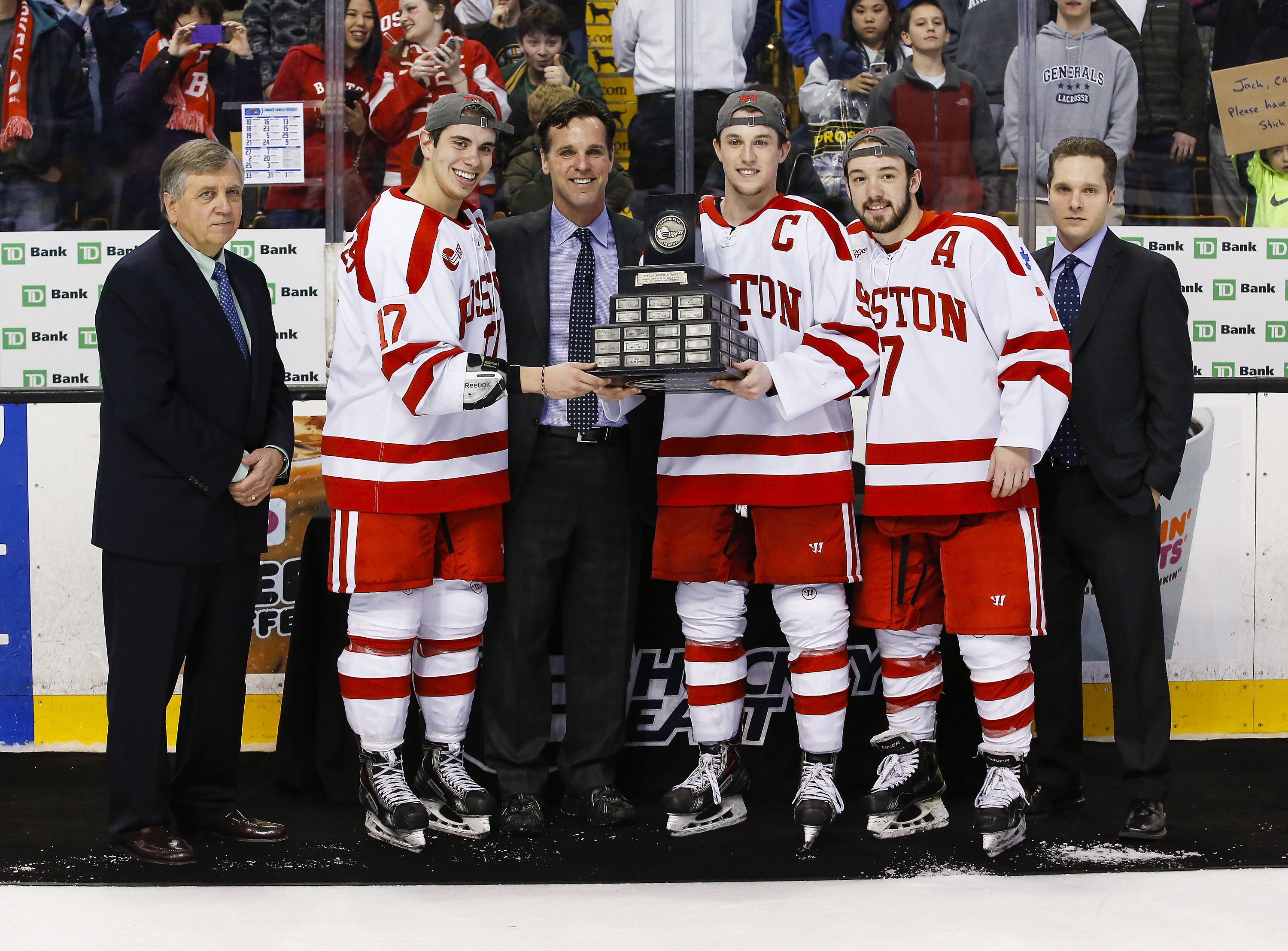 Boston University won its eighth Hockey East Tournament championship and first since 2009.