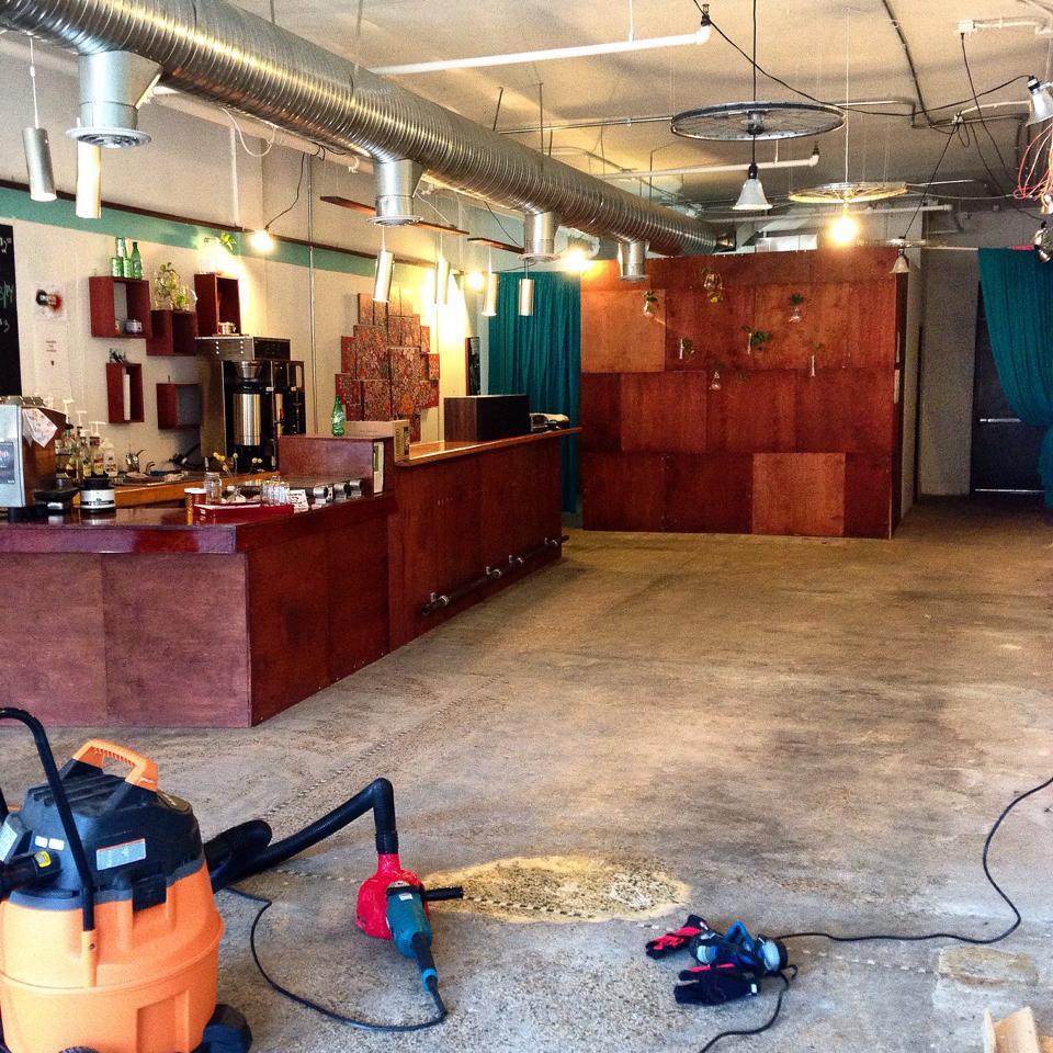 Coffee and (___) began their terrazzo floor restoration over the weekend.
