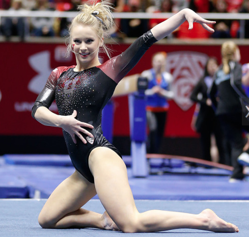 Senior Georgia Dabritz has been named Pac-12 Gymnast of the Year, as well as Pac-12 Scholar Athlete for Gymnastics