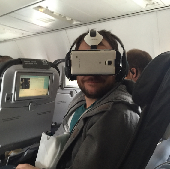 I'm the creepy guy wearing a VR headset on your plane (and it's great)