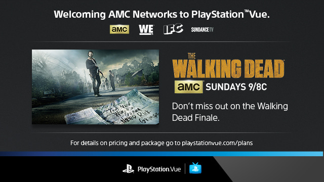 PlayStation Vue adds AMC in time for The Walking Dead's finale