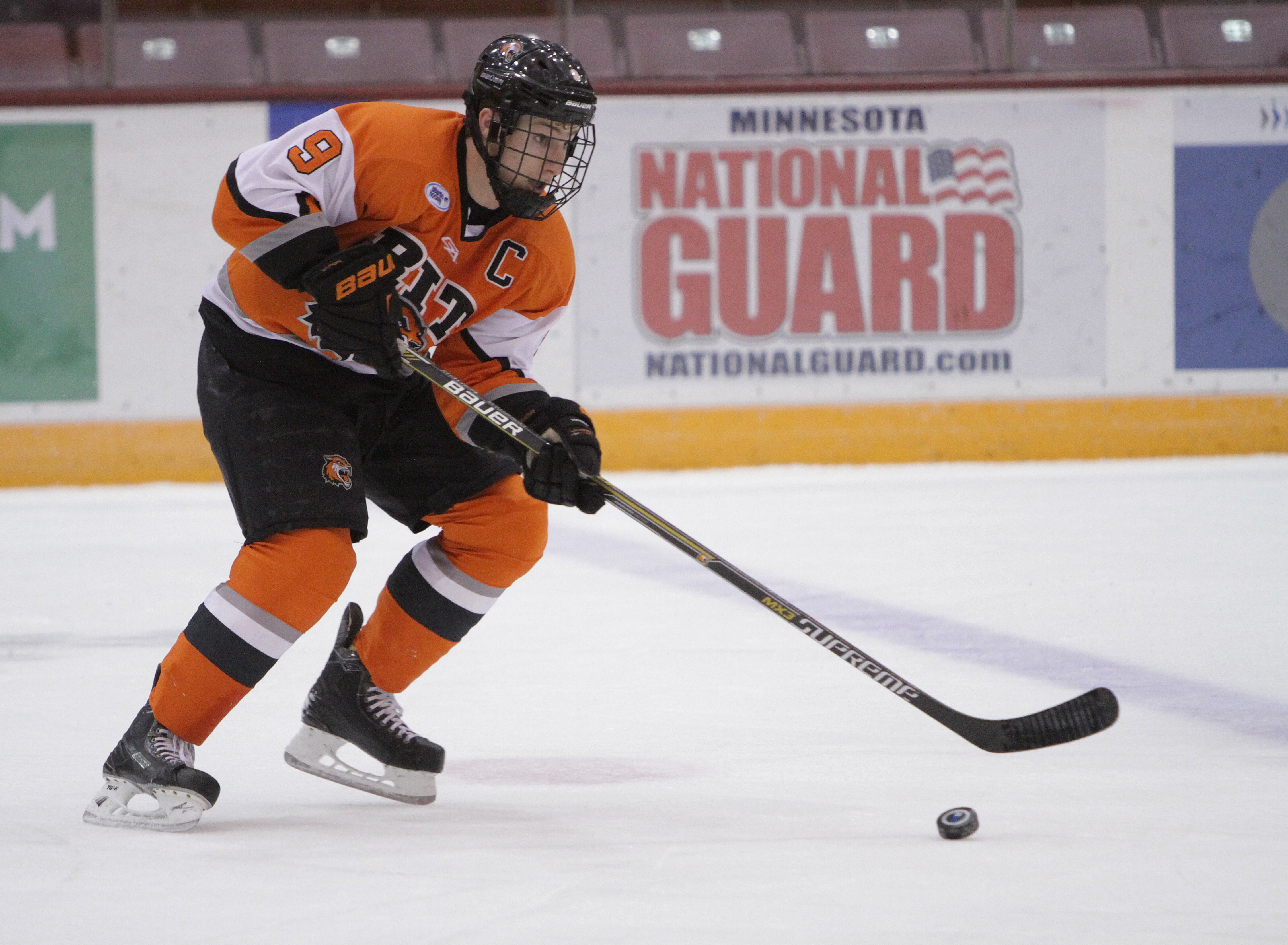 Hobey Baker finalist Matt Garbowsky was in the middle of RIT's go-ahead goal Saturday.