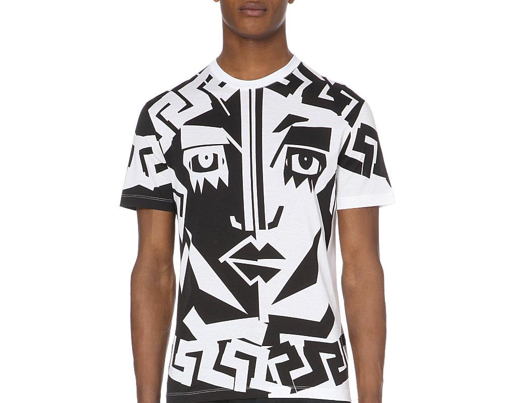 "Versace's Medusa T-shirt on <a href=""http://www.selfridges.com/en/versace-medusa-cotton-jersey-t-shirt_424-3004038-A70673A215874/?previewAttribute=White"">Selfridges & Co.</a>"