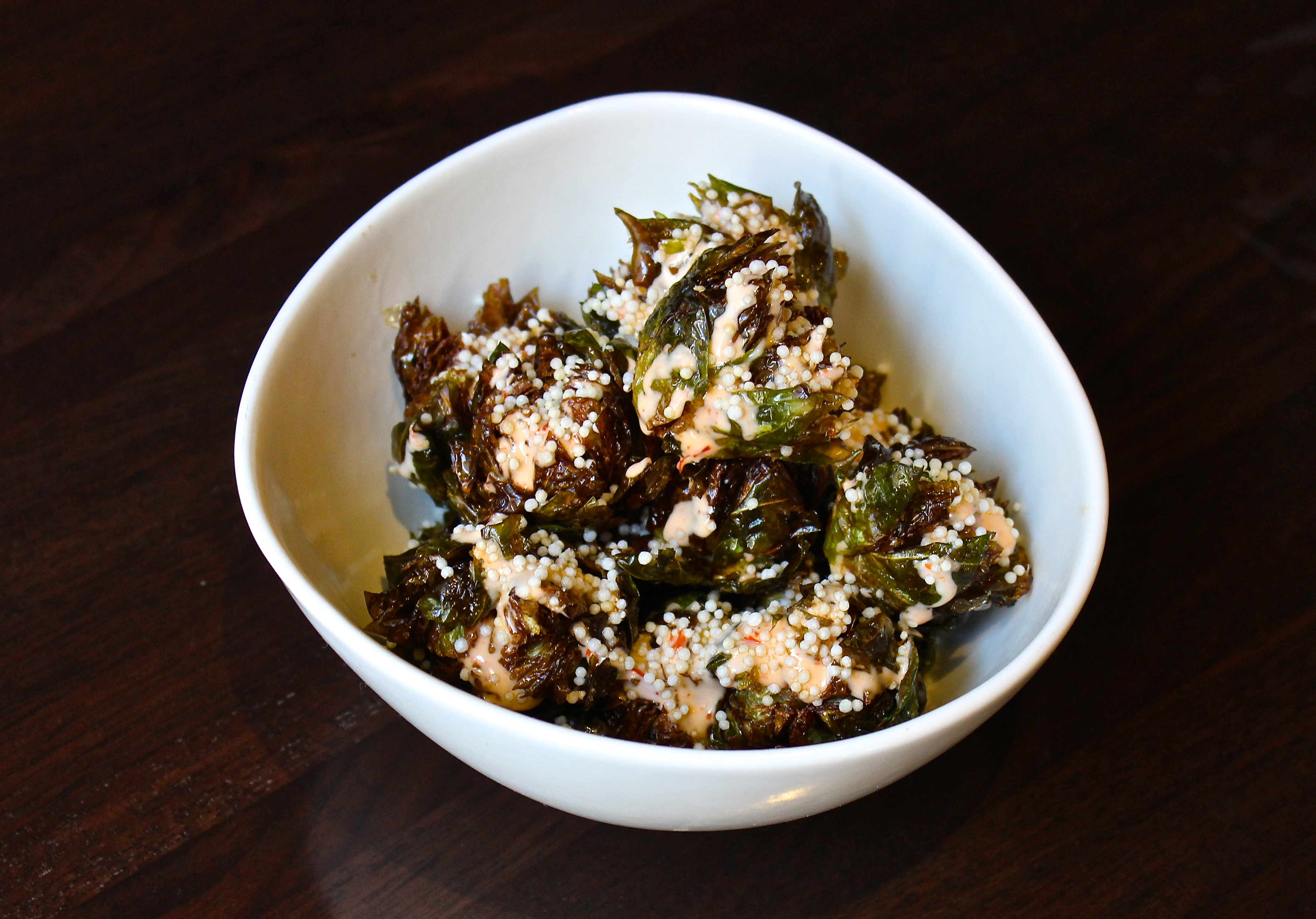 Crispy brussels sprouts at the Yona pop-up.