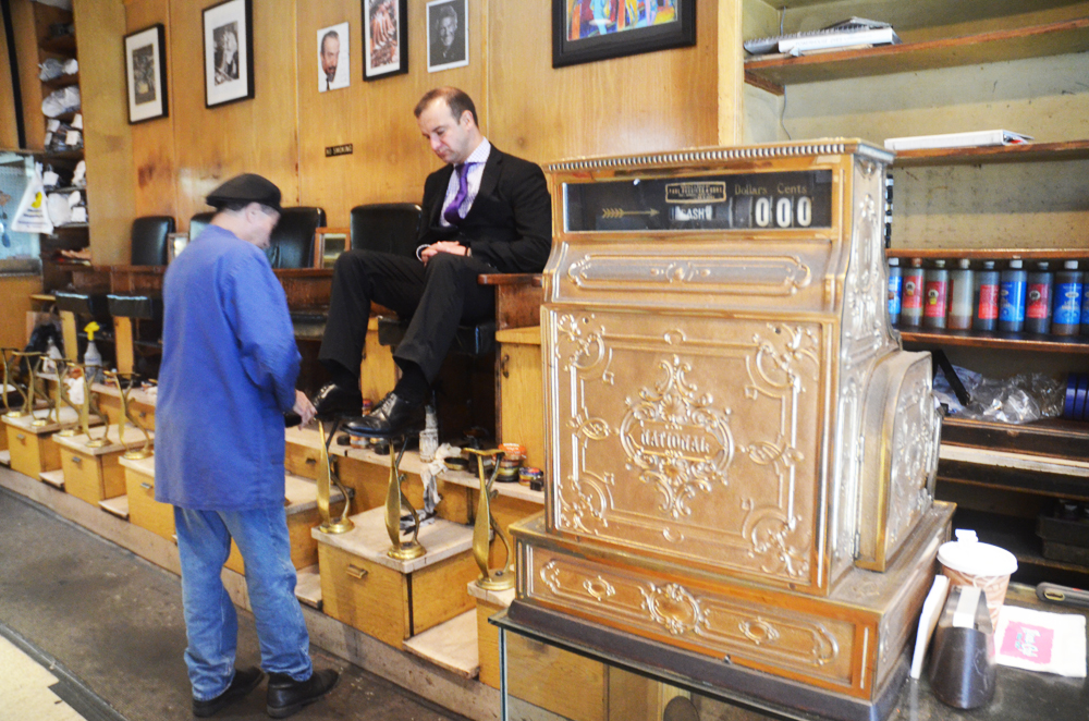 """Evan Bindelglass for <a href=""""http://ny.curbed.com/archives/2014/06/11/74yearold_jims_shoe_repair_shop_wages_landmarks_fight.php"""">Curbed NY</a>"""