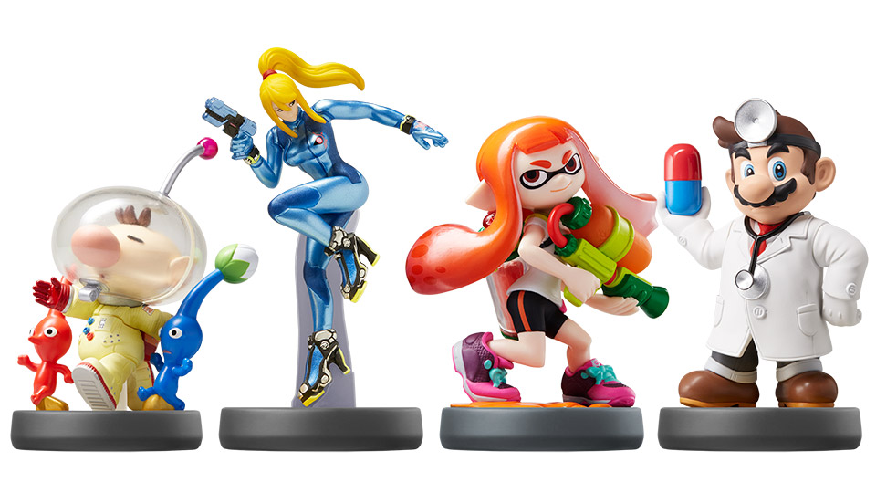 New amiibo lineup includes Dr. Mario, Zero Suit Samus, Splatoon Inklings and more