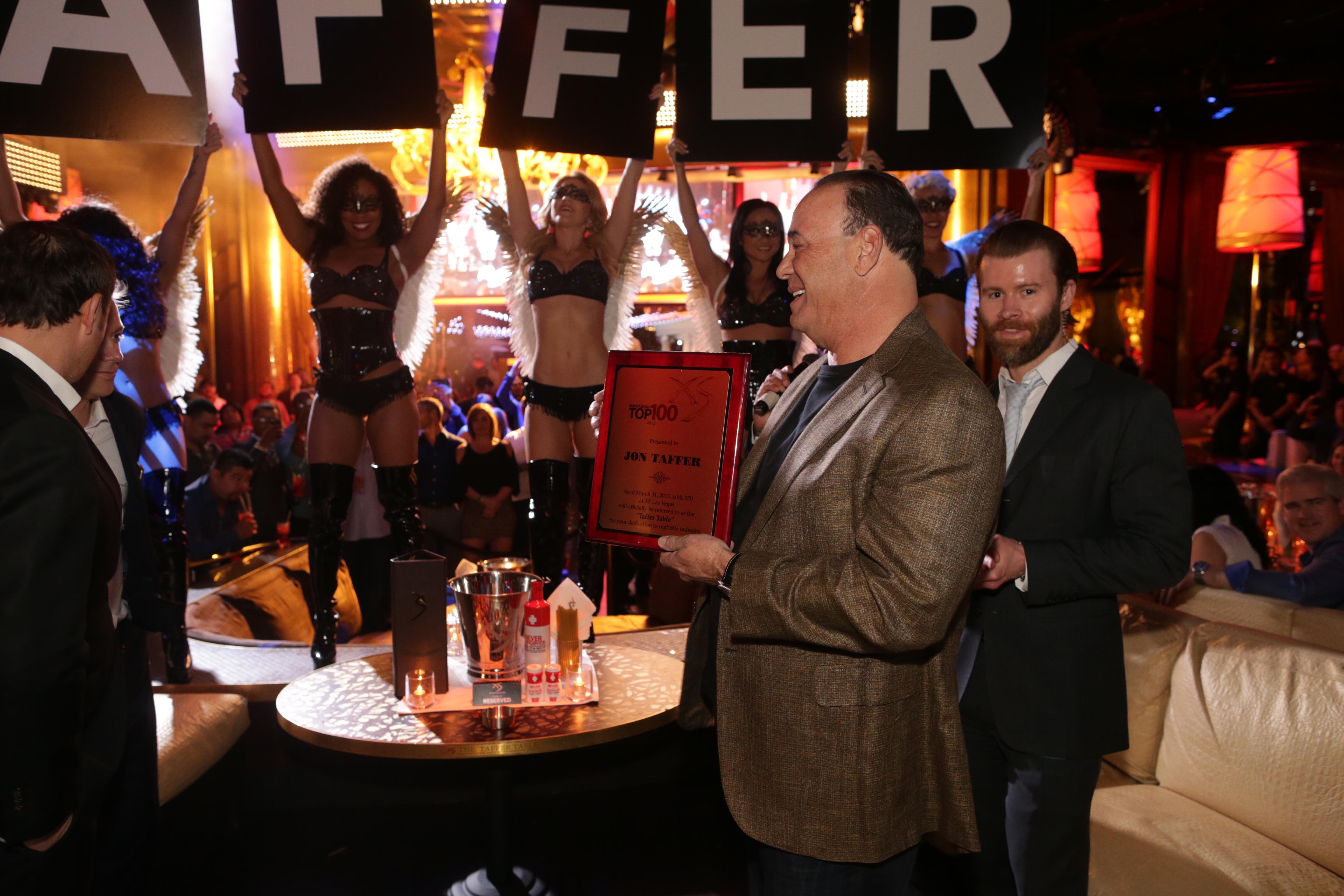 Jon Taffer table at XS Nightclub