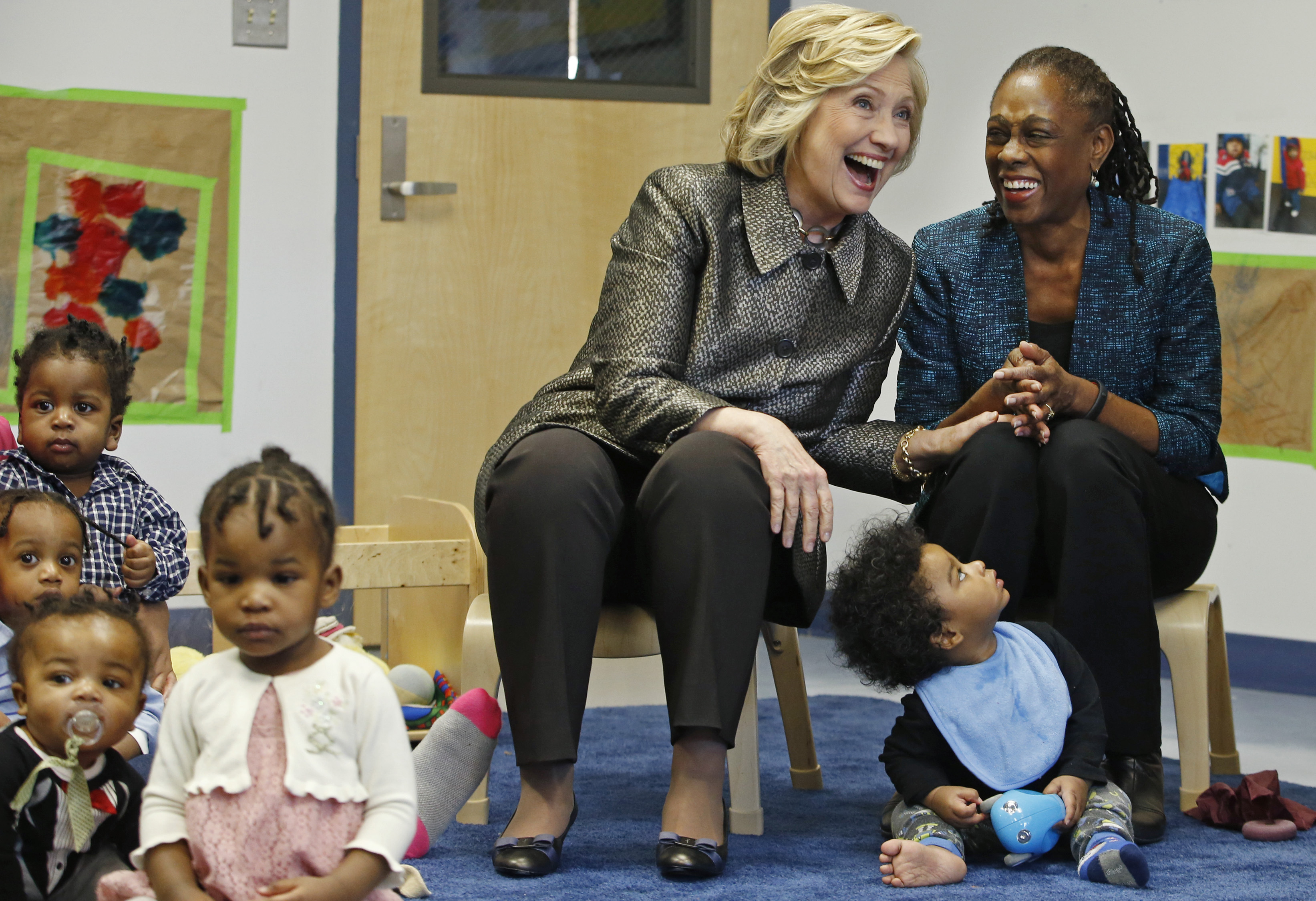 Hillary Clinton and Chirlane McCray. Photo: Getty
