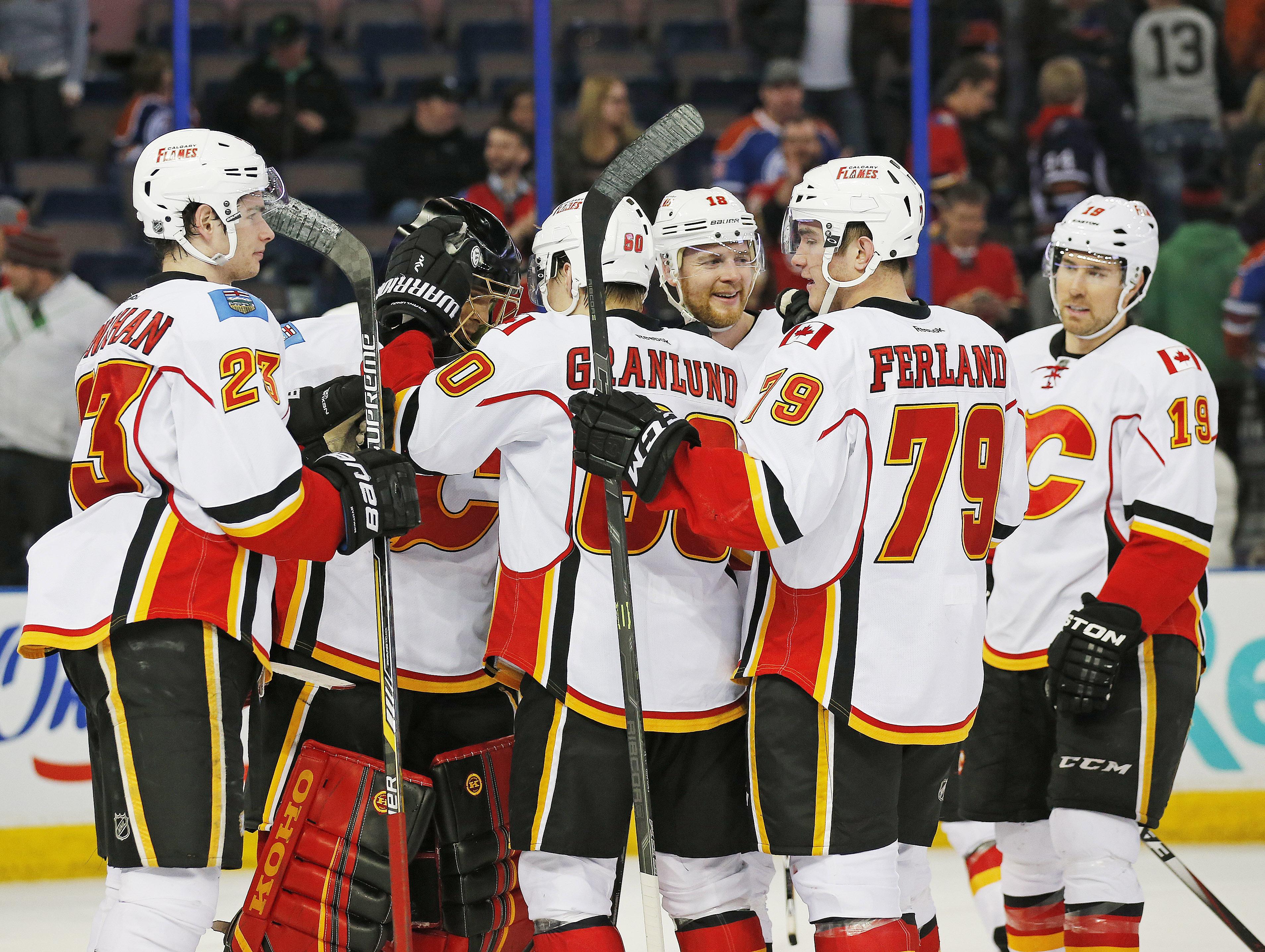 Happy rookies! Happy goalie! Happy team!