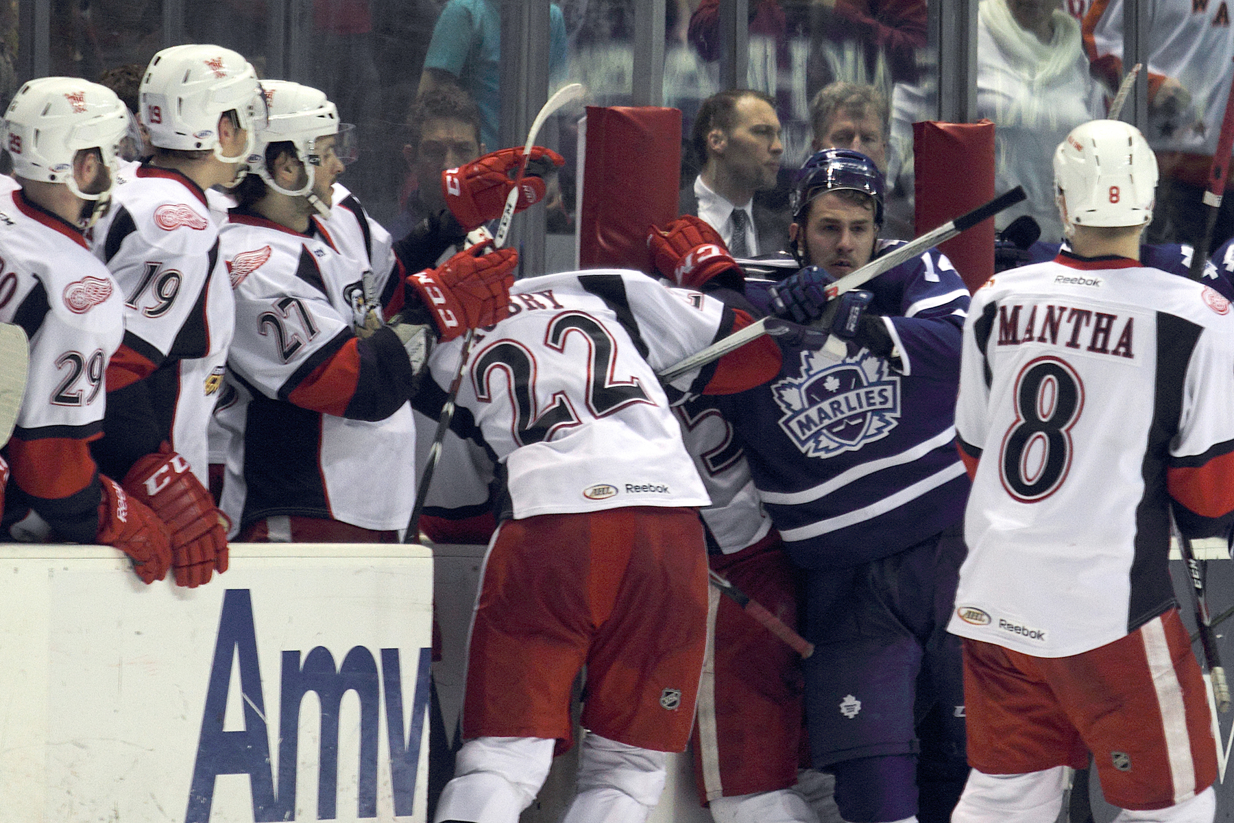The Marlies were asking for it all night, and the Griffins finally gave it to them. Suck it hard, TorontNO