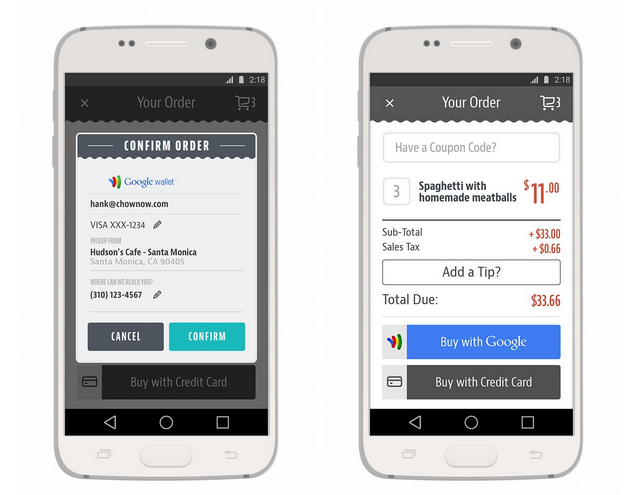 Food Delivery Service ChowNow Supports Both Google Wallet & Apple Pay