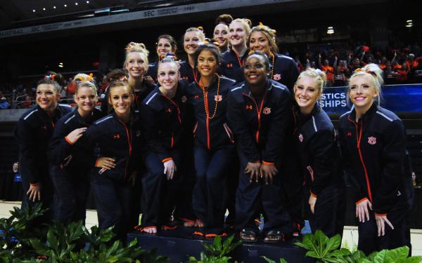Auburn Gymnastics at 2015 NCAA Championship Regionals on Saturday, April 4, 2015 in Auburn, Ala.