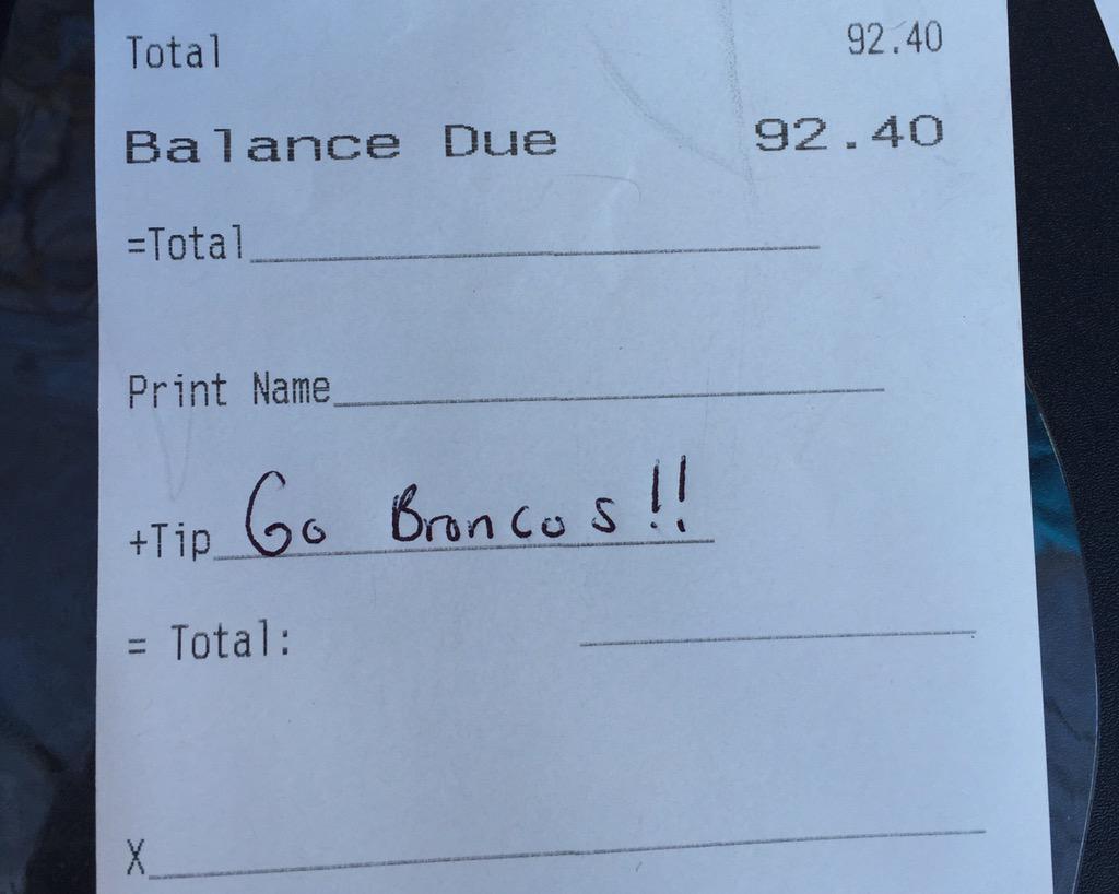 Denver Bronco Pranks Waiter Who Mocked Him