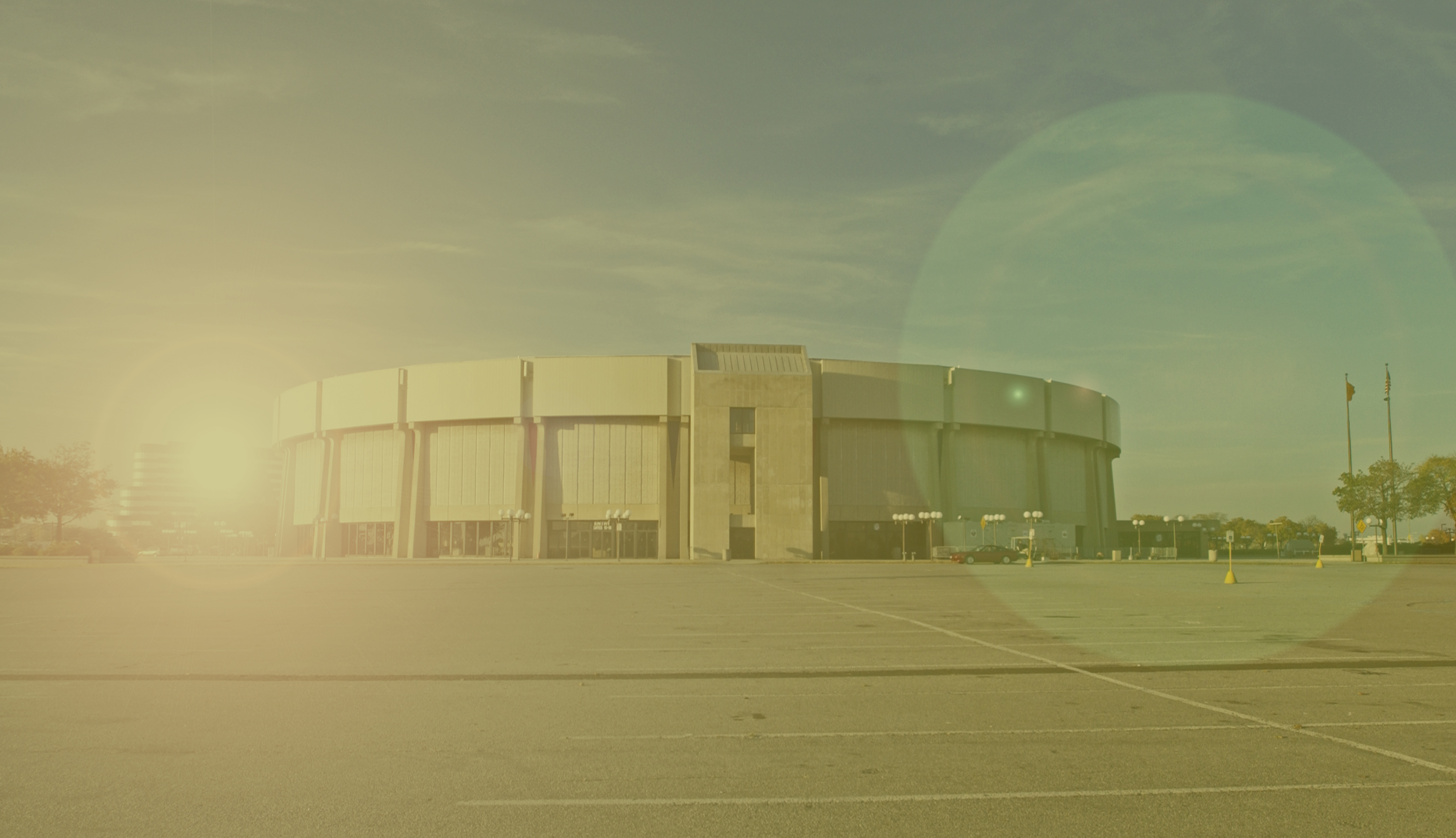 The bright and shining concrete oval.