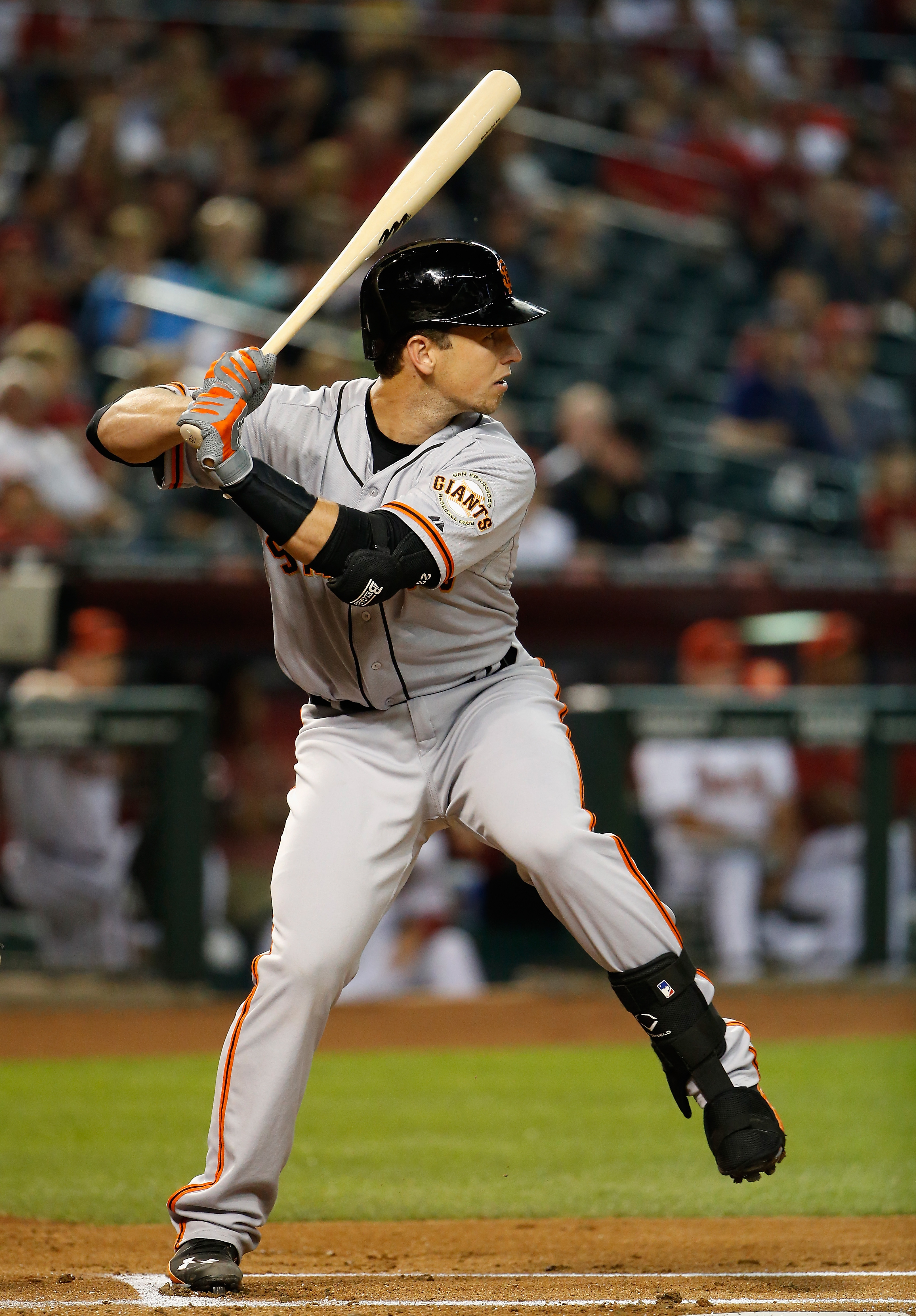 Buster Posey, seen here in his side gig as the MLB logo