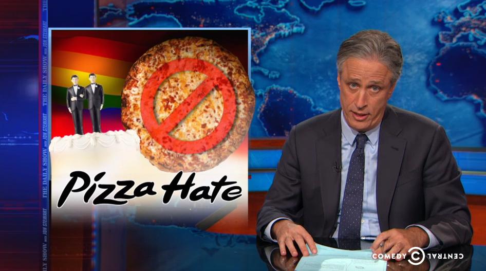 Watch Jon Stewart, Mario Batali & Larry Wilmore Tackle the Indiana Pizzeria Scandal