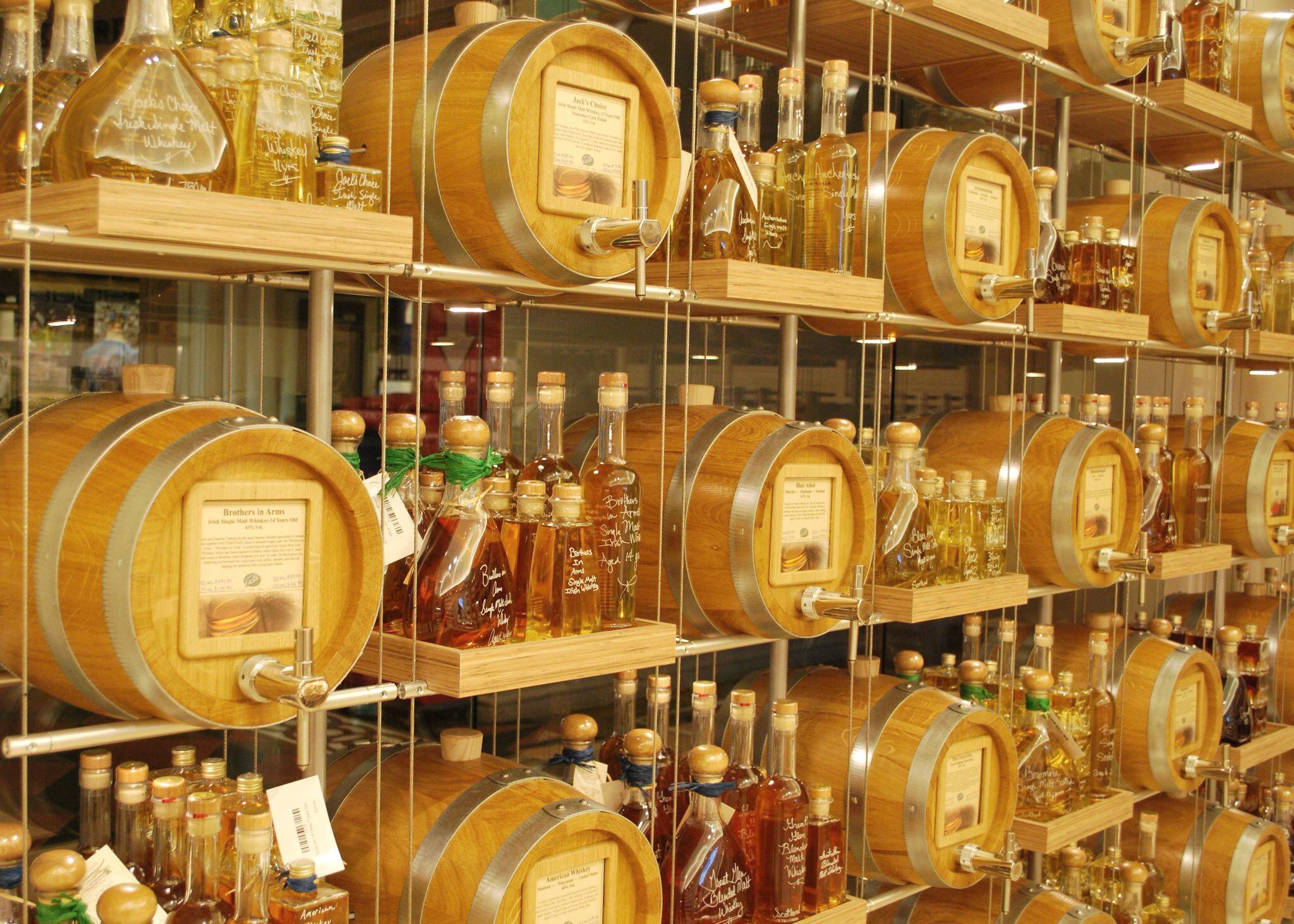 Vom Fass whiskey casks