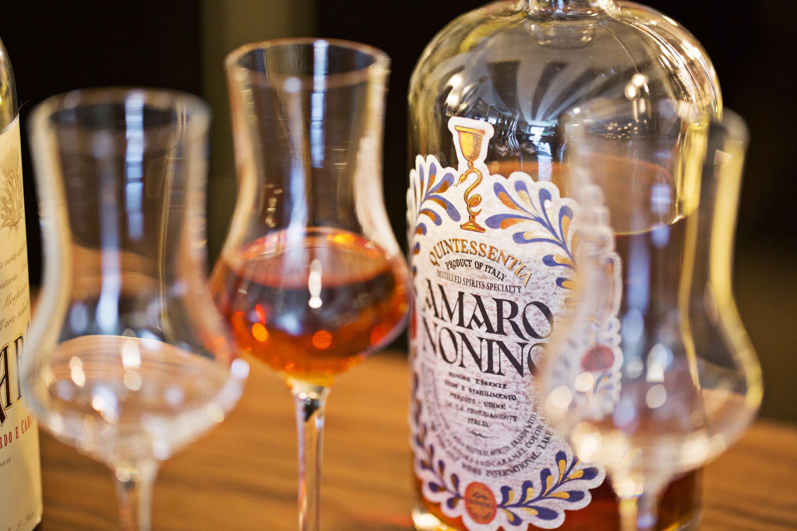 Amaro at Urbana's bar.