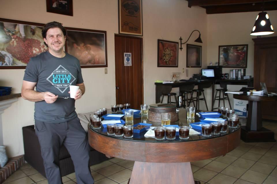Joel Shuler of Little City Coffee Roasters in Guatamala