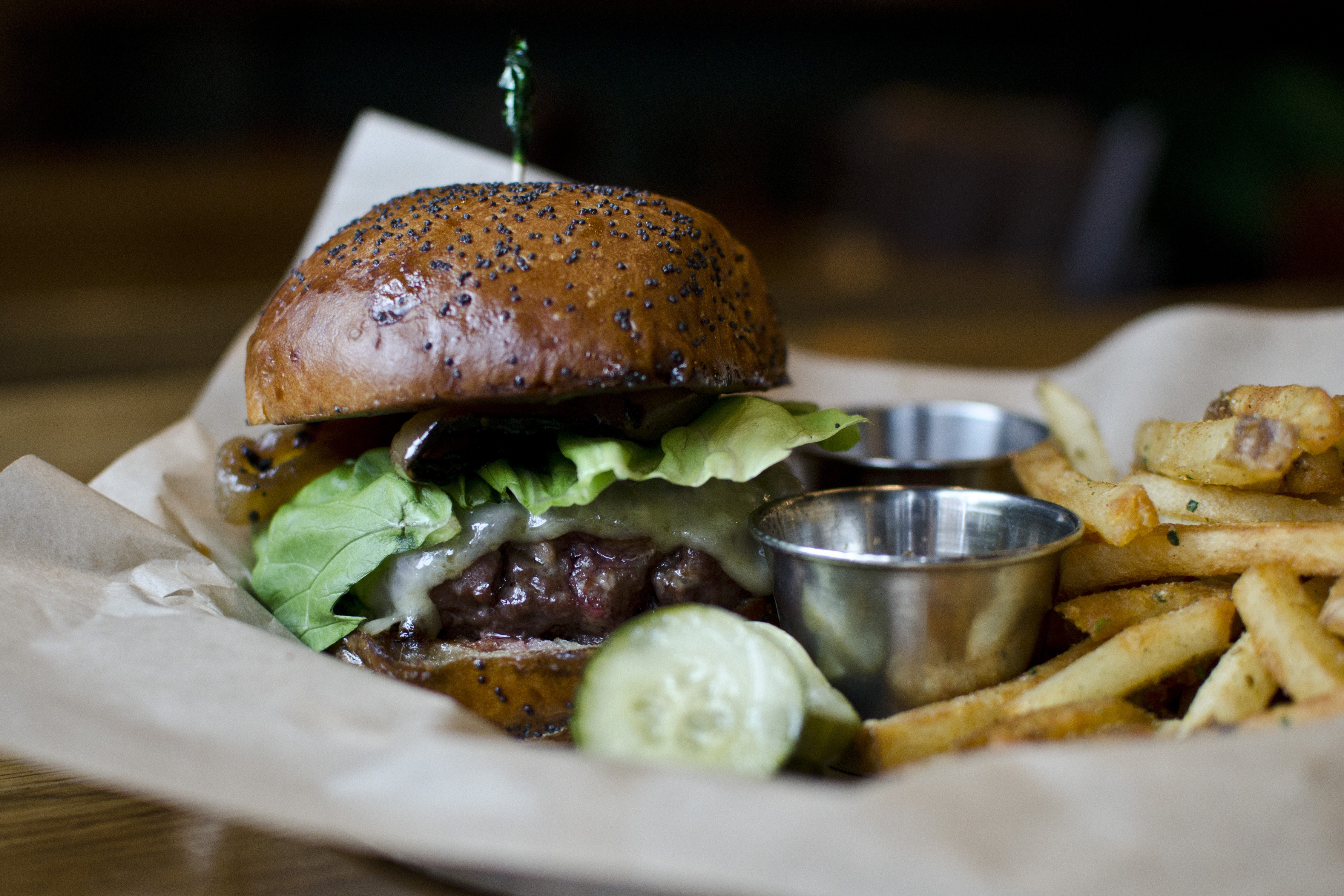 The Kirkland Tap & Trotter burger and fries