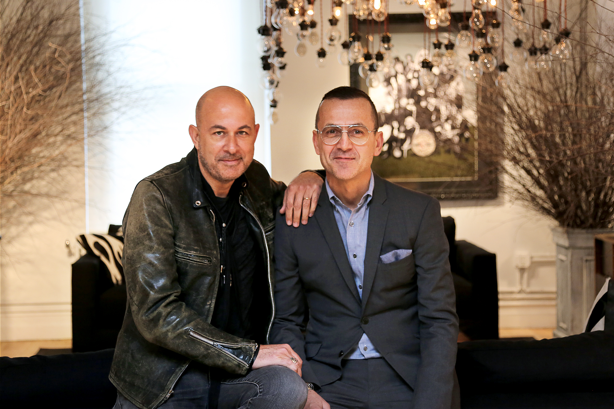 John Varvatos and CFDA CEO Steven Kolb; Photo courtesy of John Varvatos