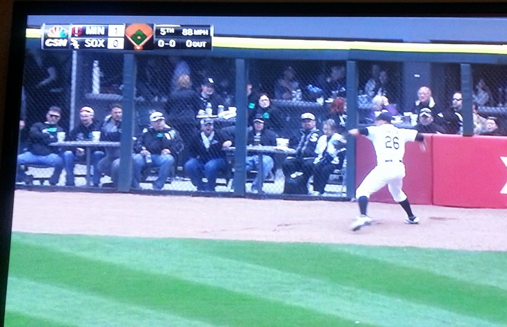 Avisail Garcia fields a lead off double. e-gus is not impressed.