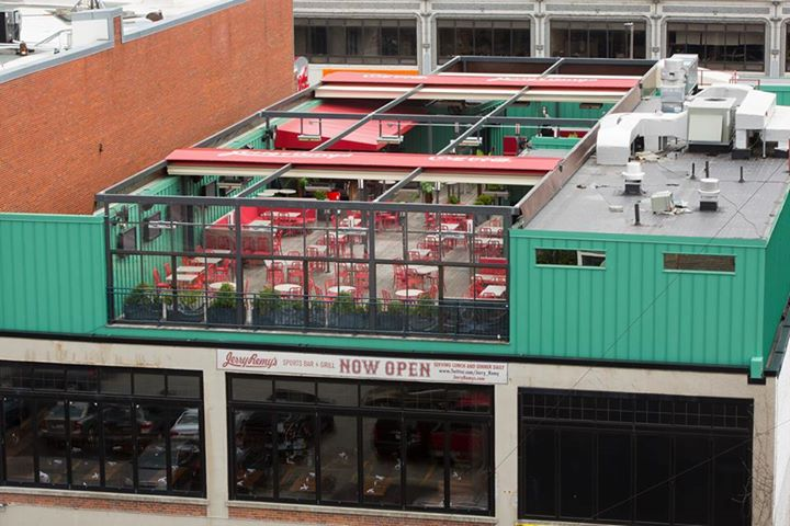 The roof deck at Jerry Remy's Fenway