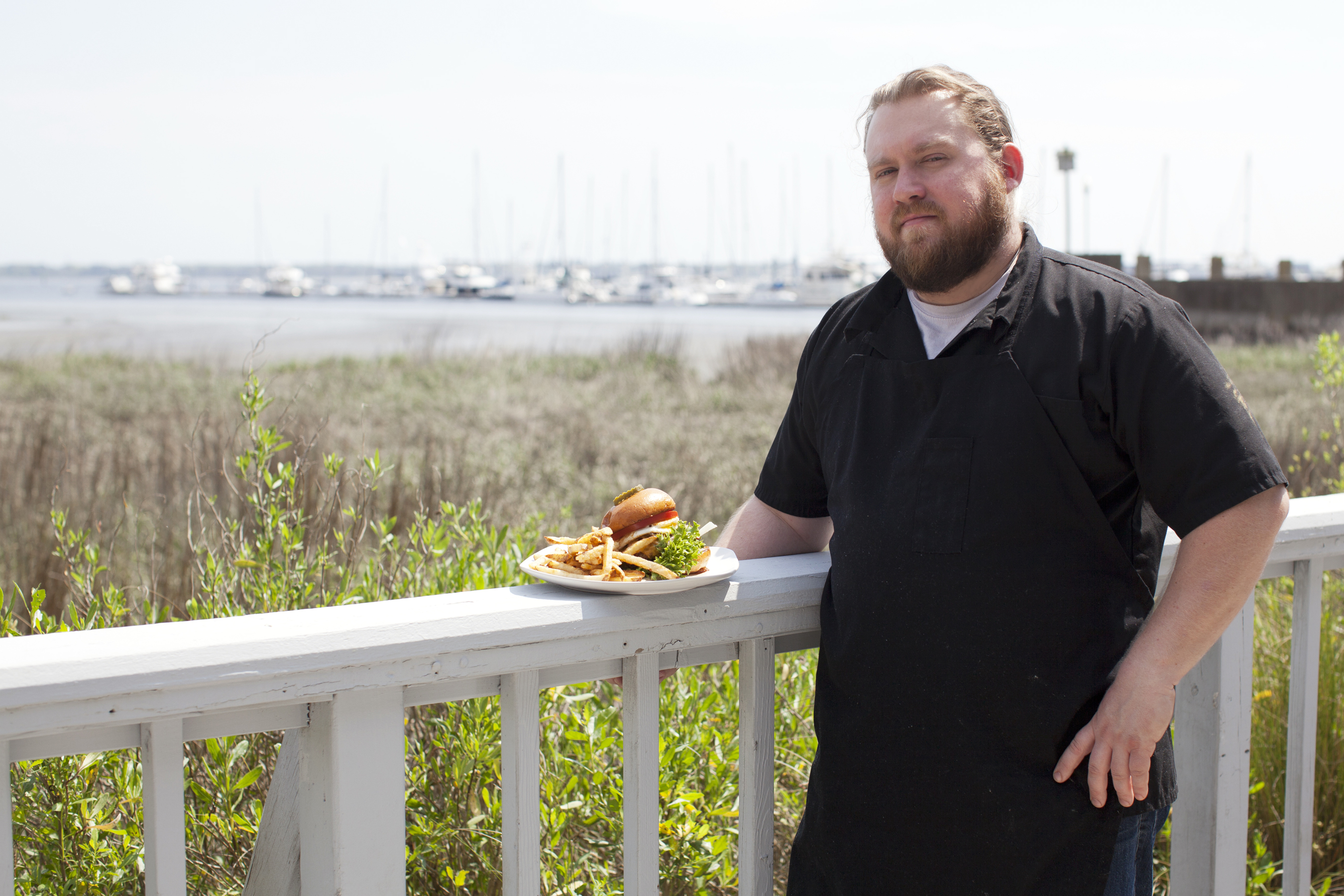 Burgers, boats, and chef Ryan Collins.