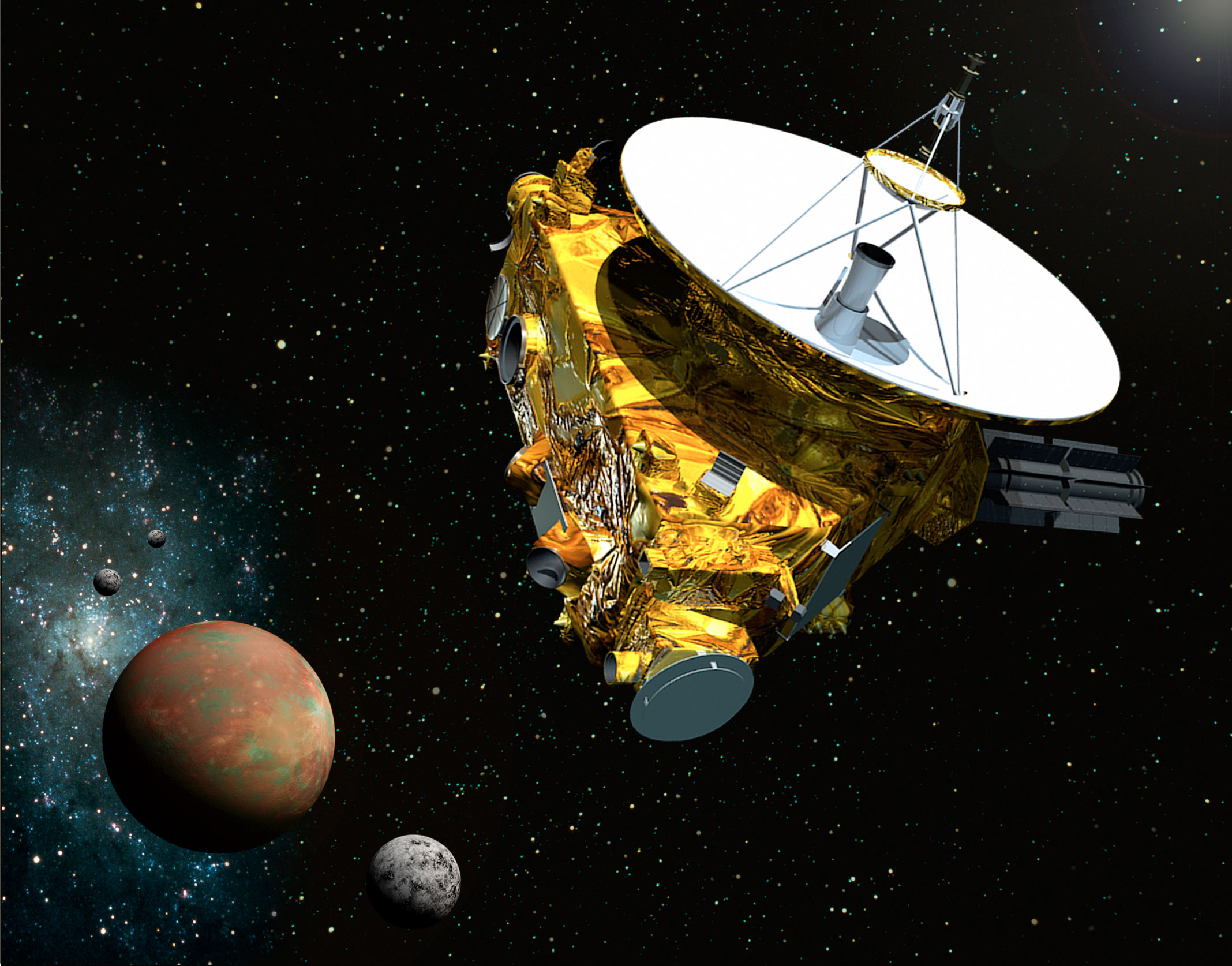 NASA's New Horizons probe is visiting Pluto — and just sent back its first color photos