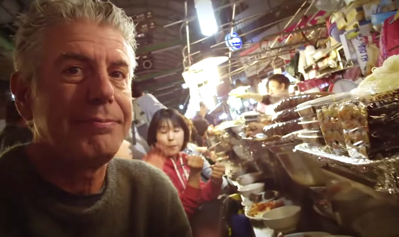 Watch Anthony Bourdain Get Wasted and Eat Korean Barbecue in South Korea