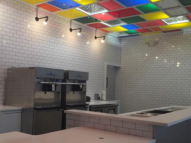 """An in-progress glimpse inside the shop, <a href=""""http://philly.eater.com/2015/4/2/8335351/photo-big-gay-ice-cream-opening-soon"""">circa two weeks ago</a>."""