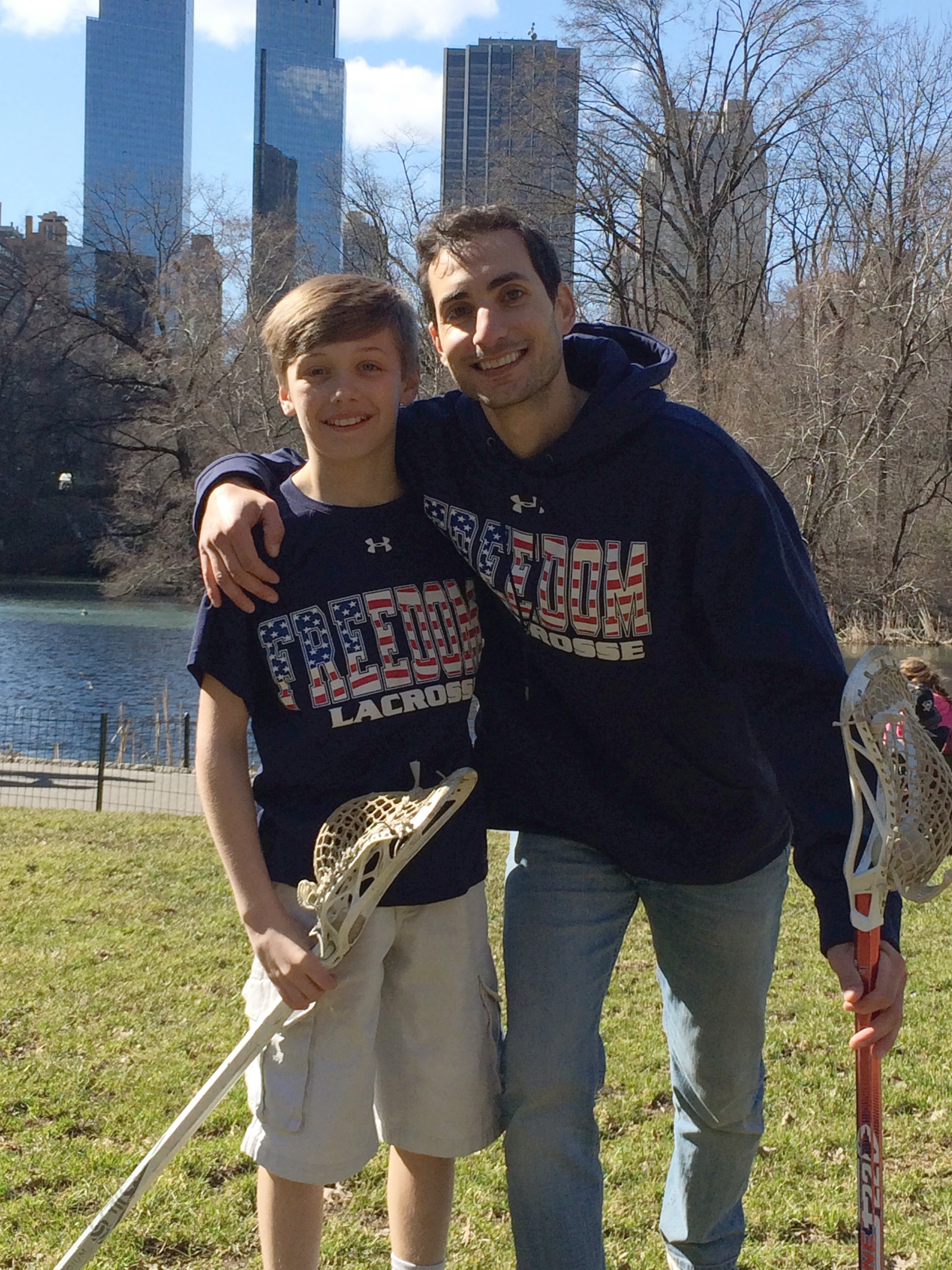 Braeden with America's first publicly out gay pro team sport athlete, Andrew Goldstein.