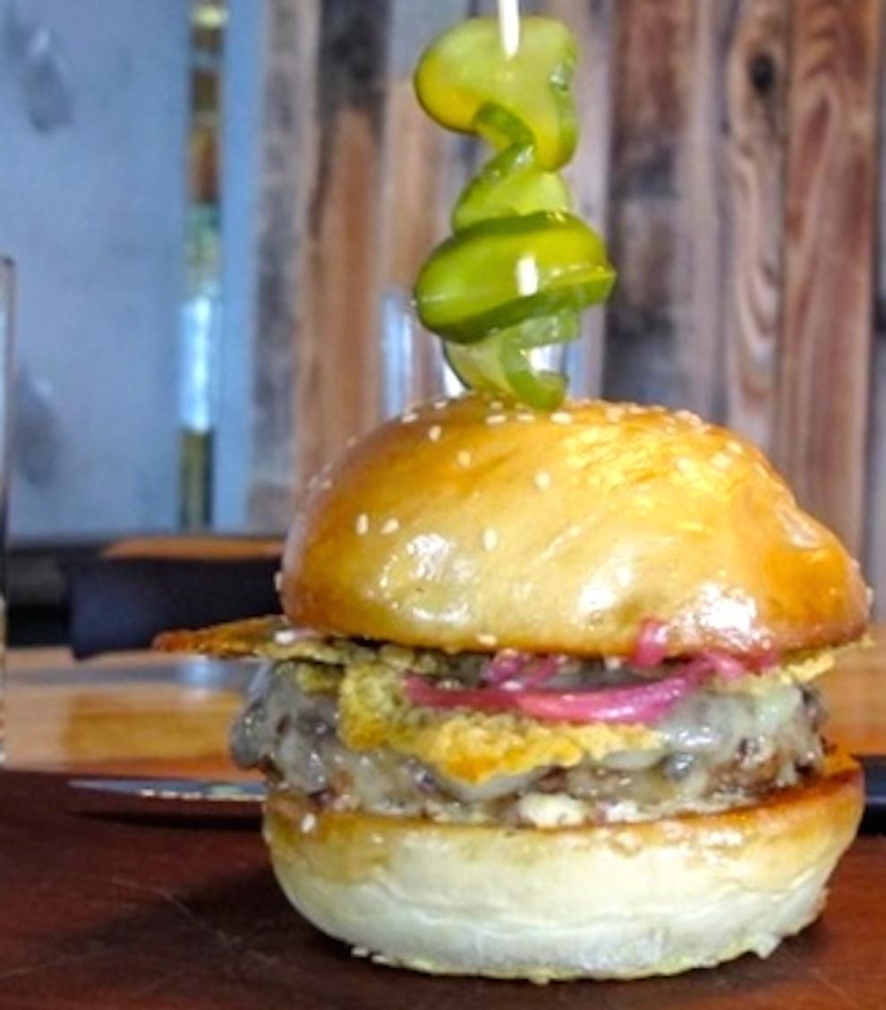 Pork burger at Old Major
