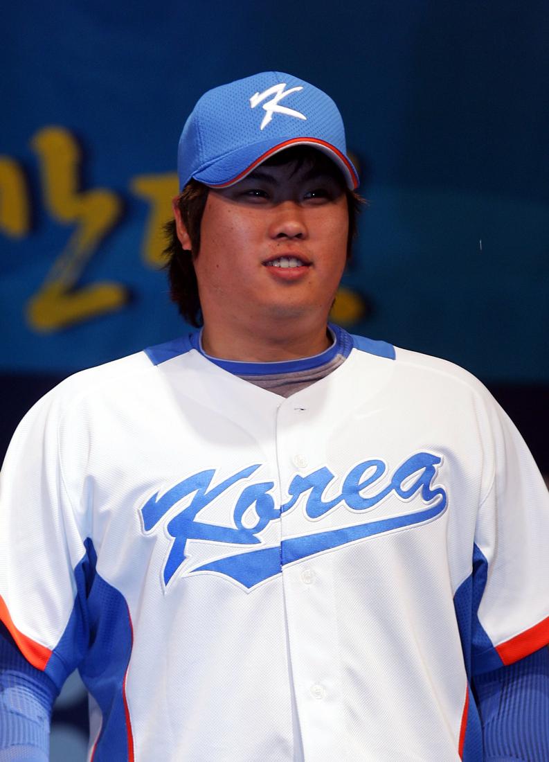 Ryu Hyun-jin, seen here in 2009 during the World Baseball Classic