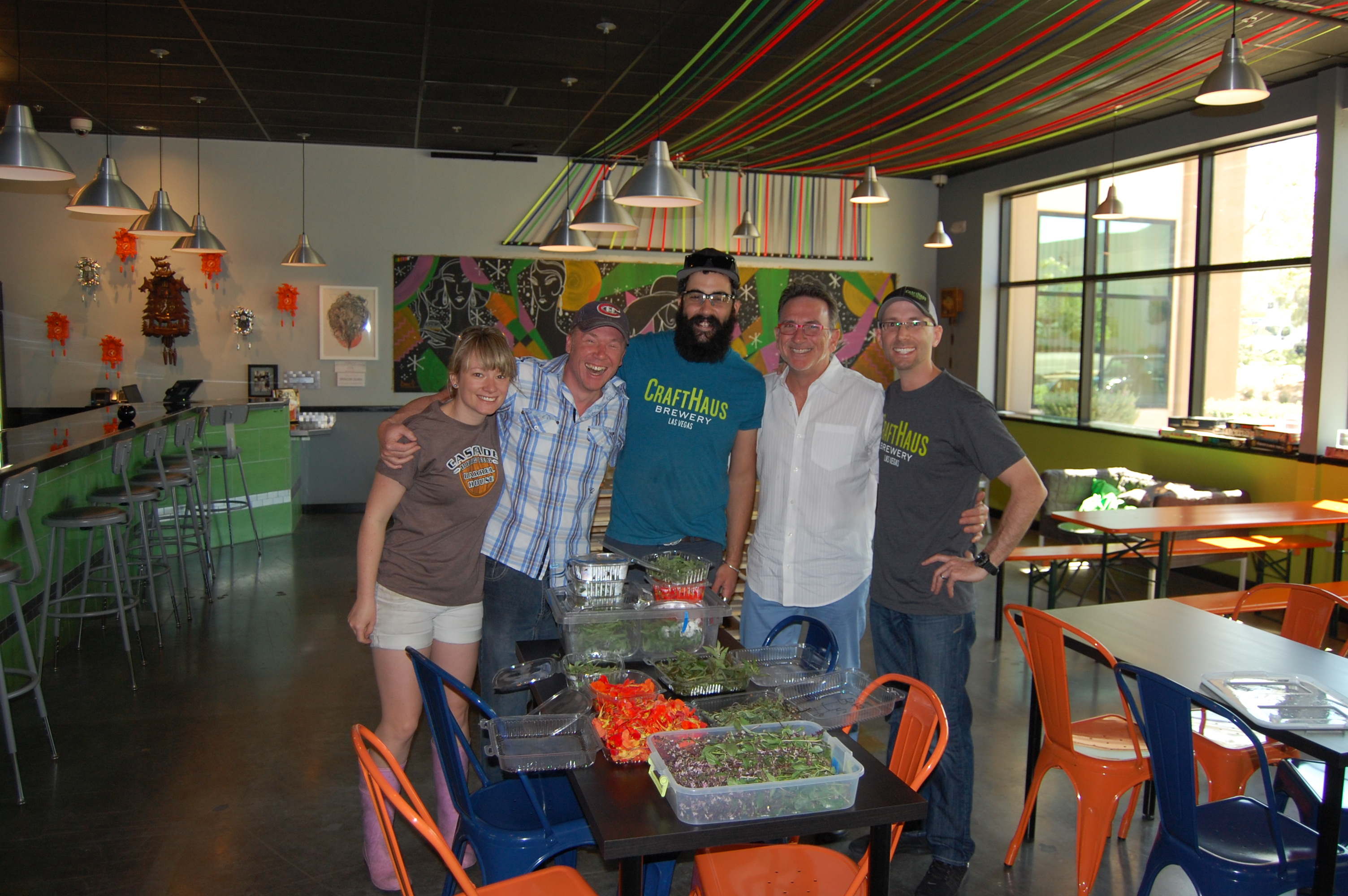 The CraftHaus Brewery team and Rick Moonen