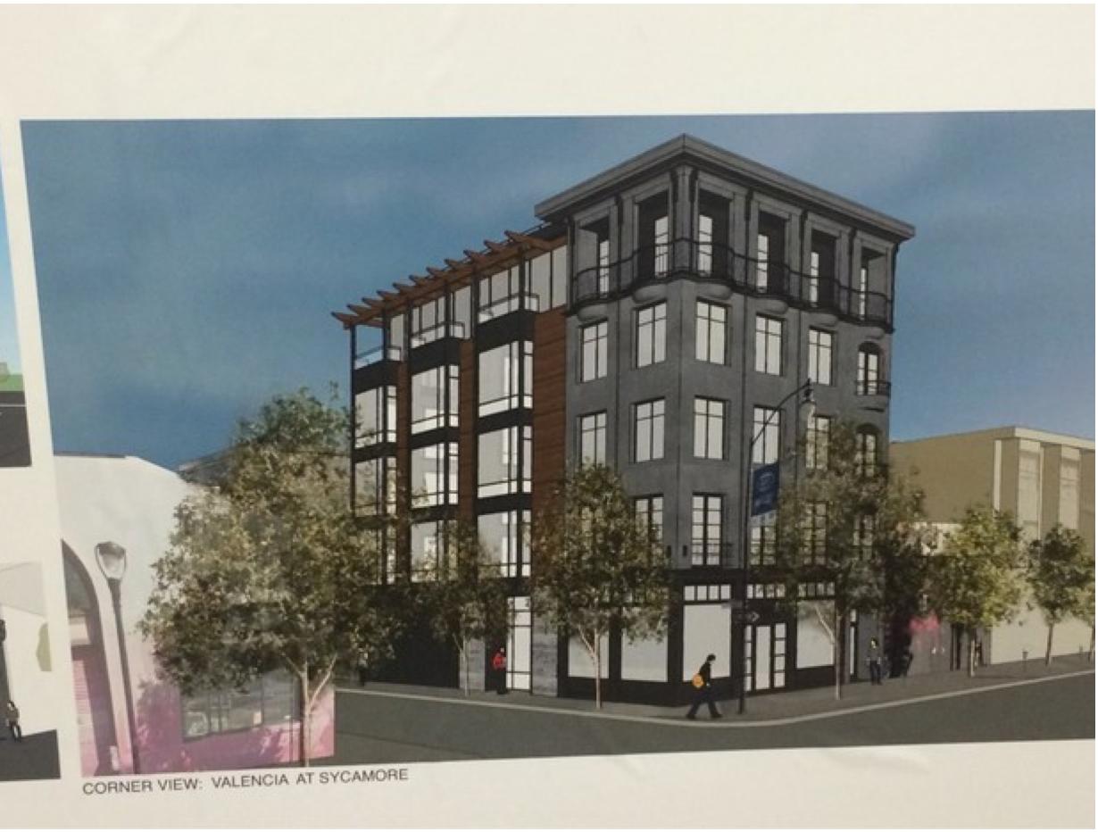 The proposed condo development.