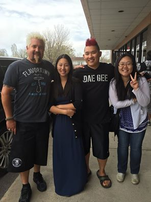 Guy Fieri with the Dae Gee team