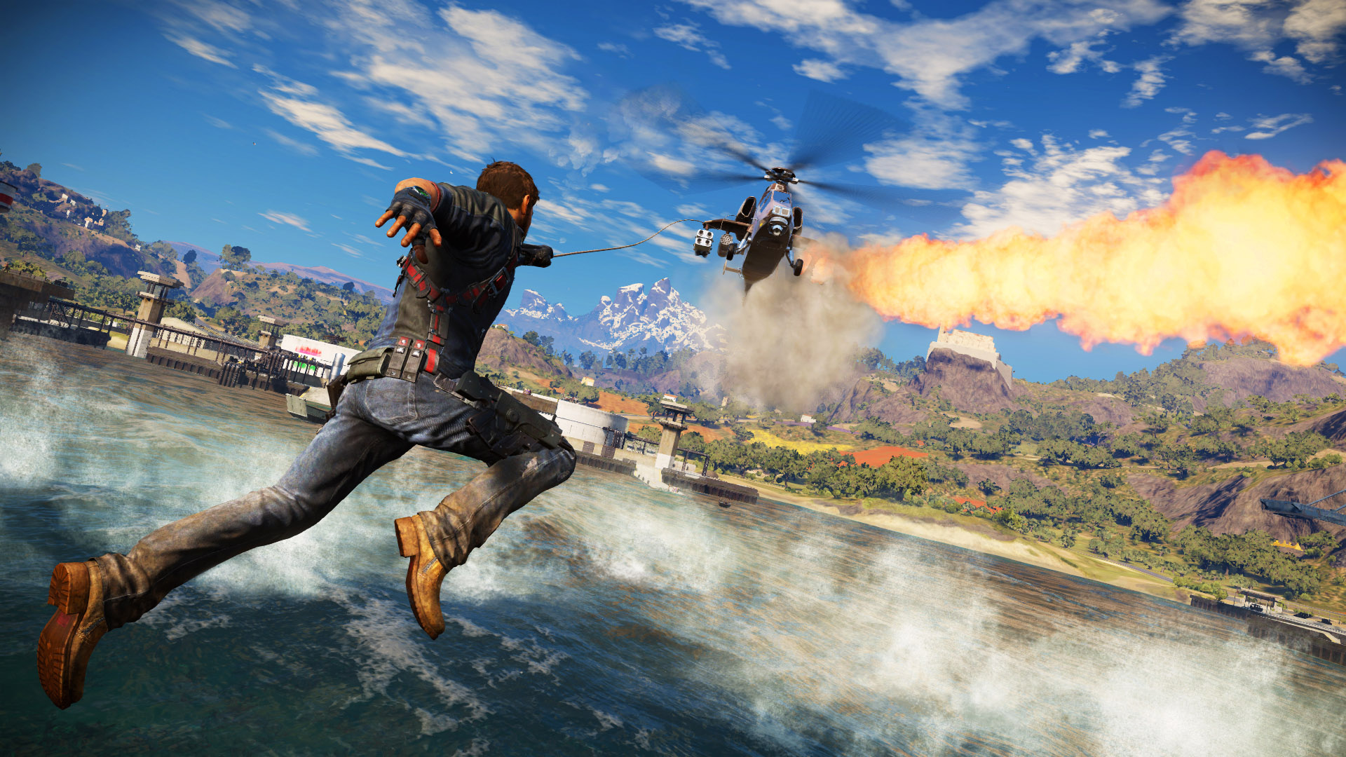 Just Cause 3 gets a gameplay trailer next week, take a tiny look at insanity
