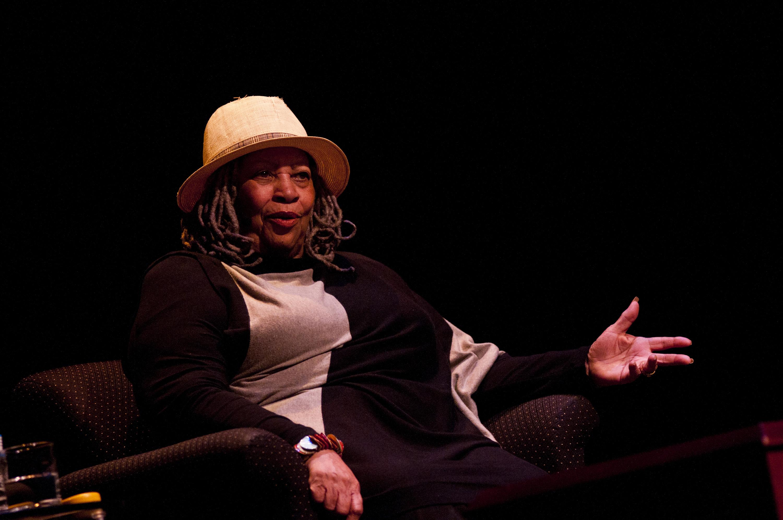 Toni Morrison speaks during an event at Lisner Auditorium at George Washington University on September 21, 2011, in Washington, DC.