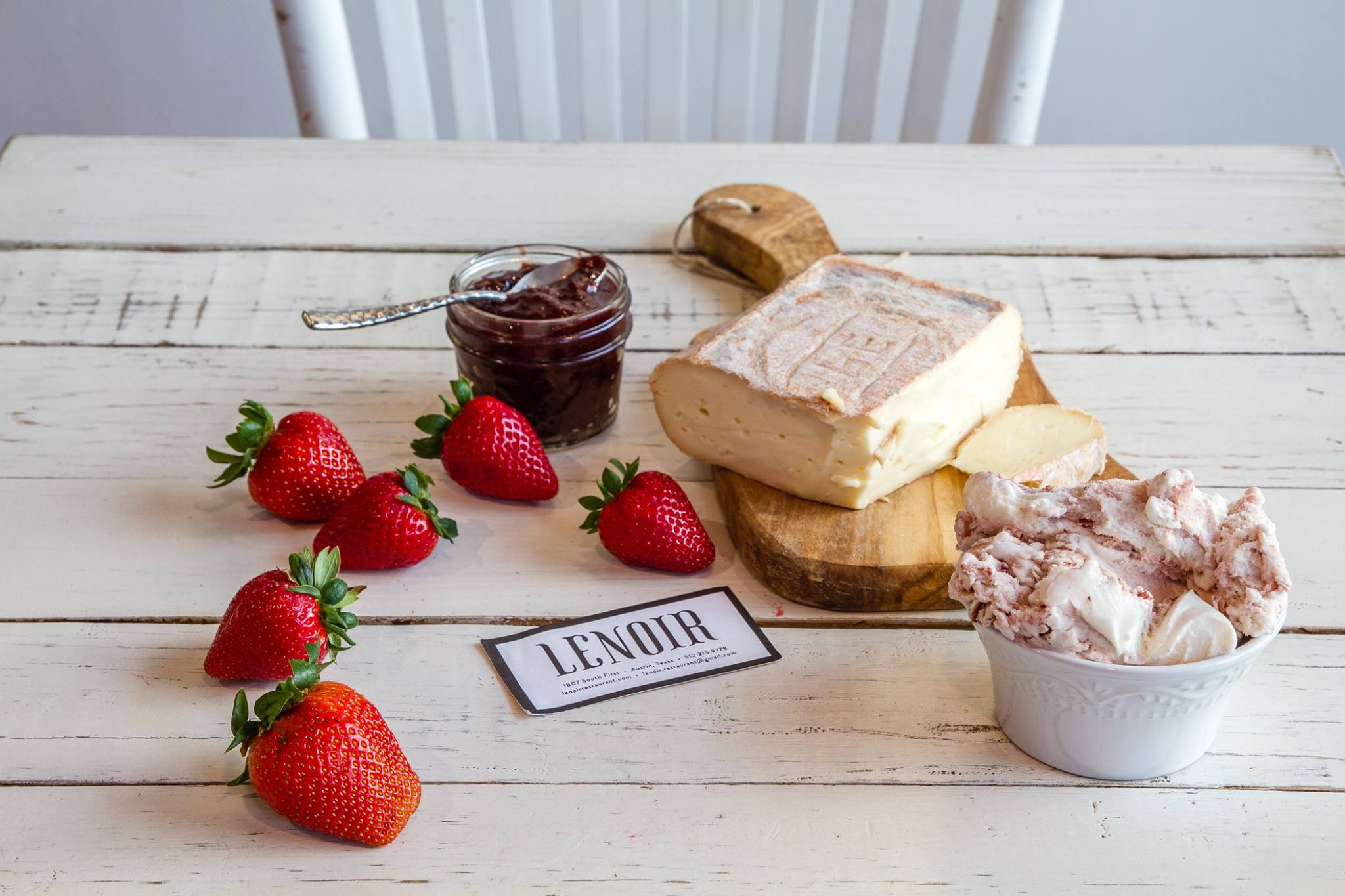 Dolce Neve's and Lenoir's Taleggio cheese gelato