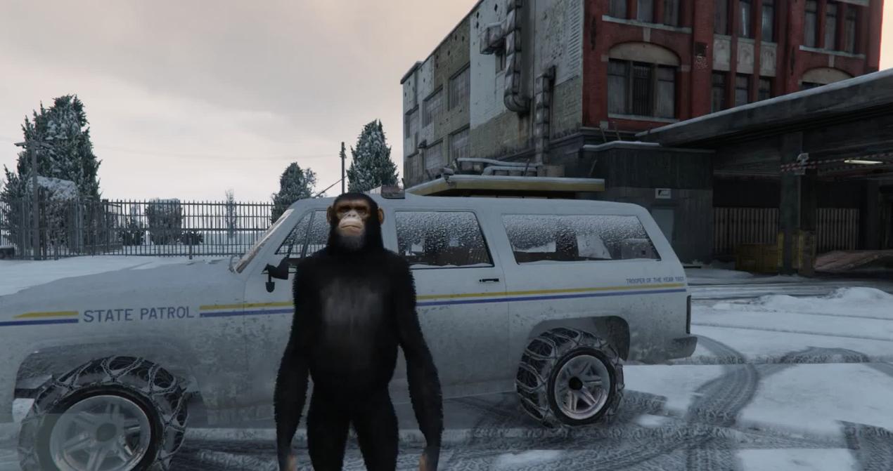 GTA 5 mod lets you explore a hidden, snowy ghost town
