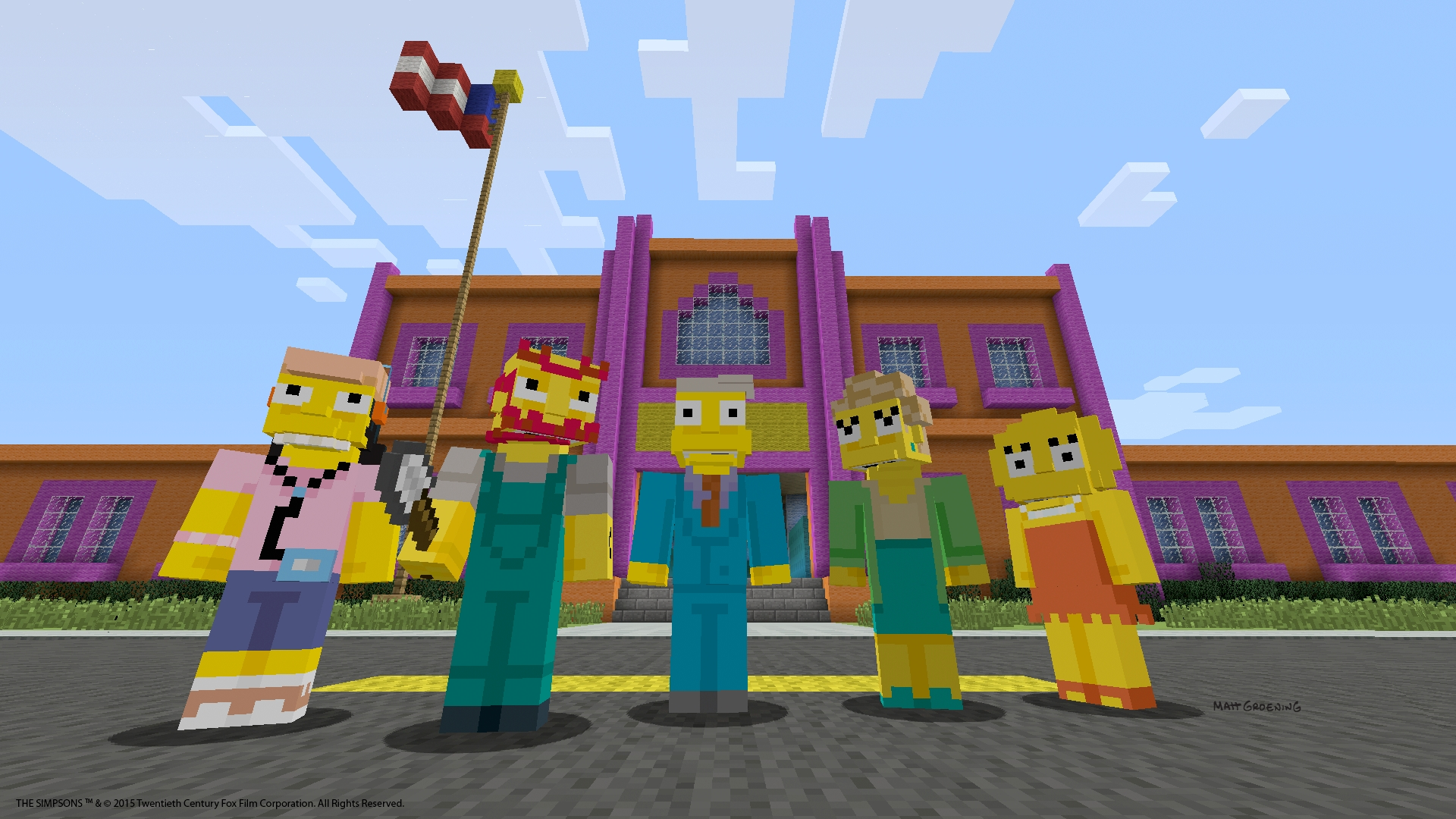 Perfectly cromulent Minecraft update brings The Simpsons to PlayStation