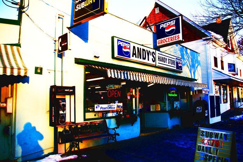 Andy's Handy Store is being renovated by new owners for a grocery store and expansions of OTTO and Hilltop Coffee.